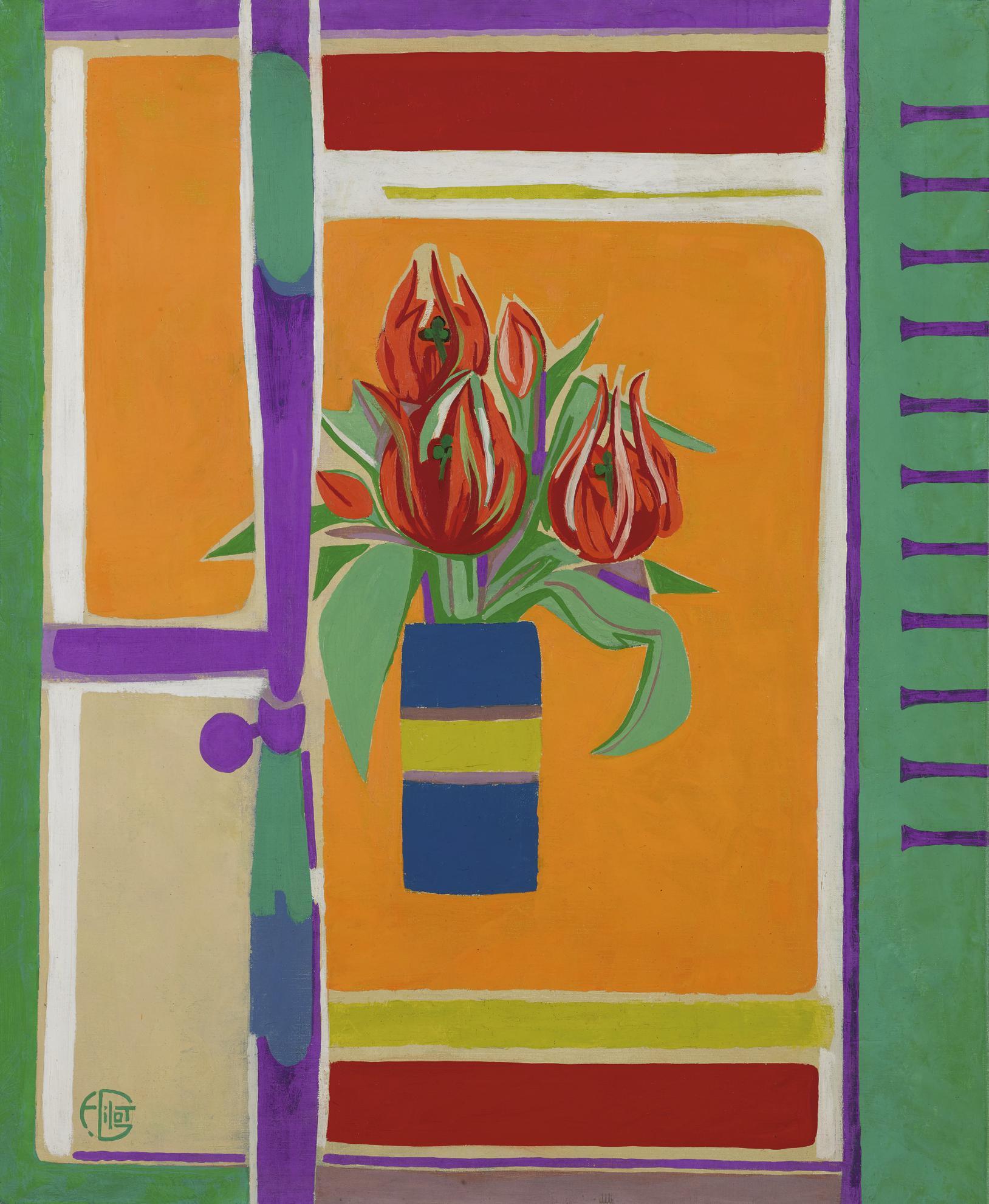 Francoise Gilot-Tulipes Perroquet-1979