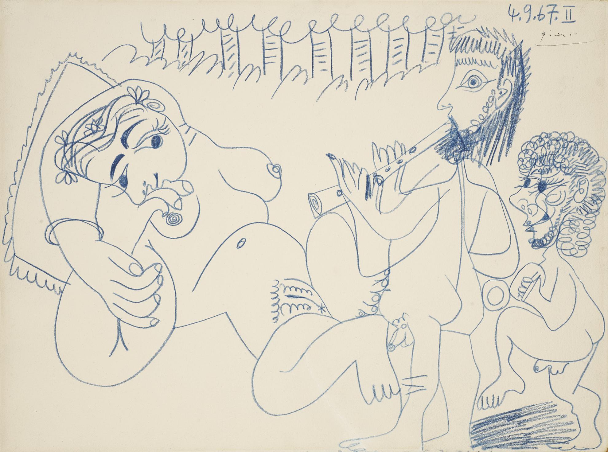 Pablo Picasso-Musiciens Et Femme-1967