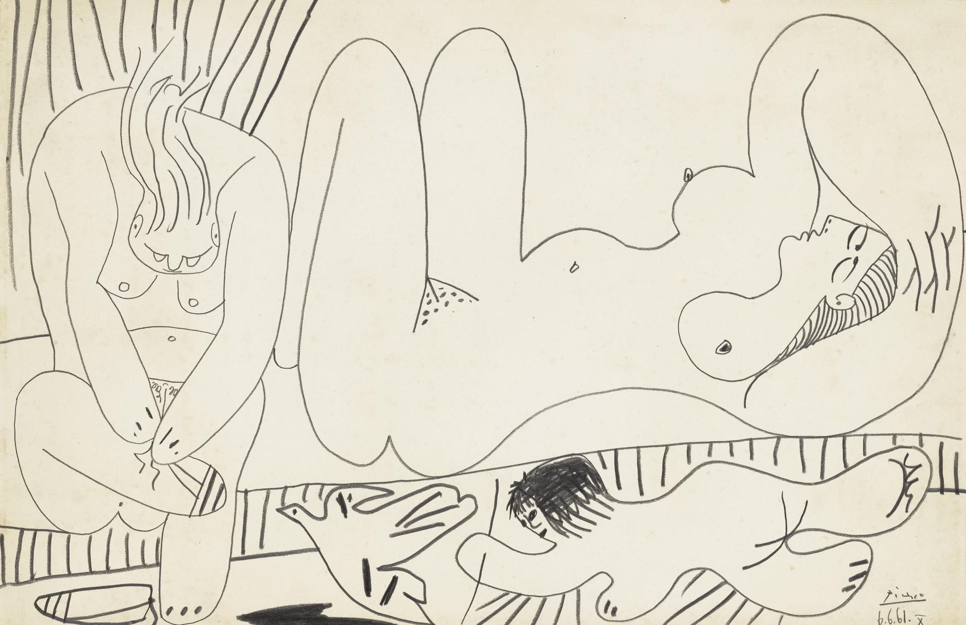 Pablo Picasso-Baigneuses-1961