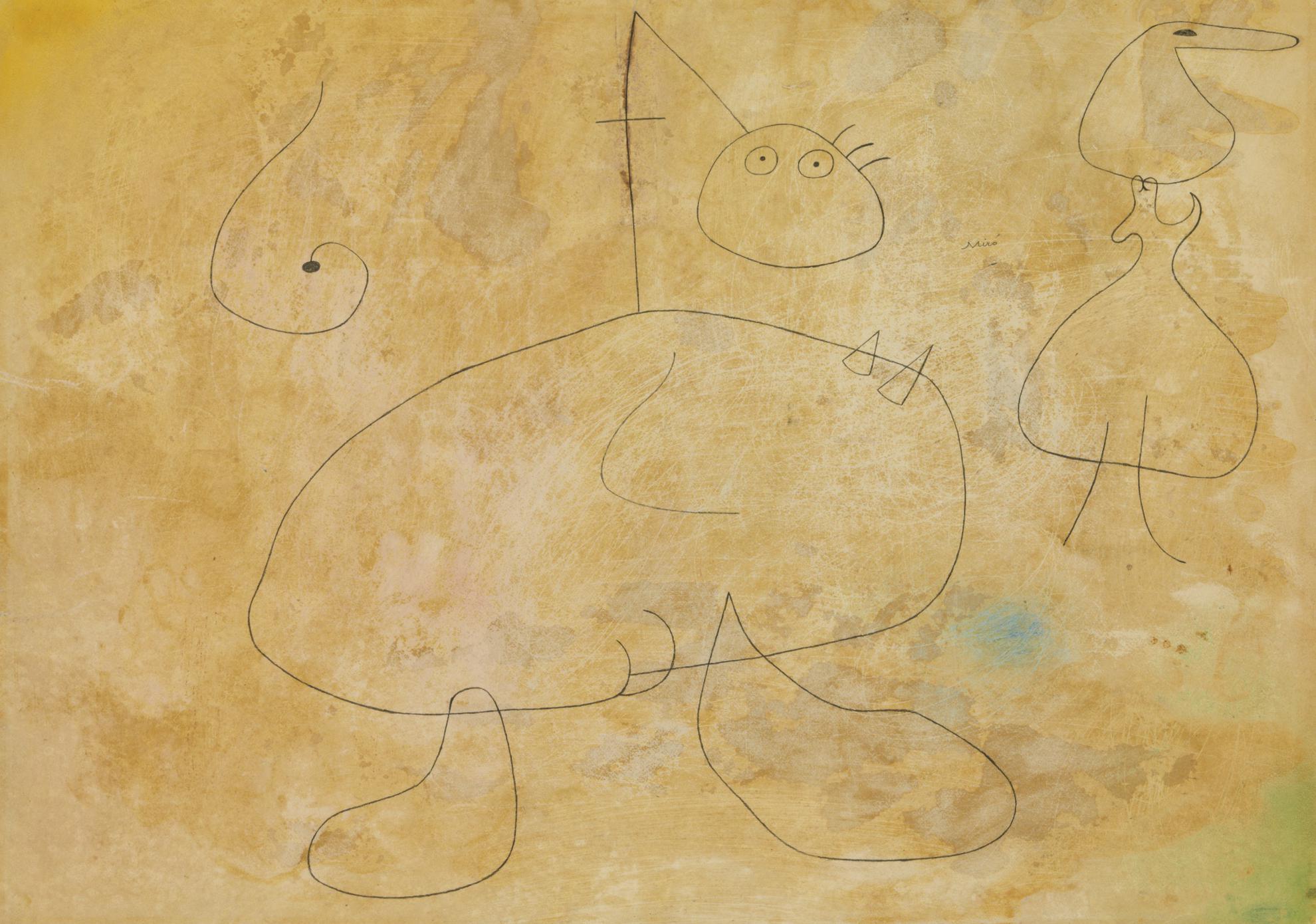 Joan Miro-Femmes Devant Lhorizon-1942