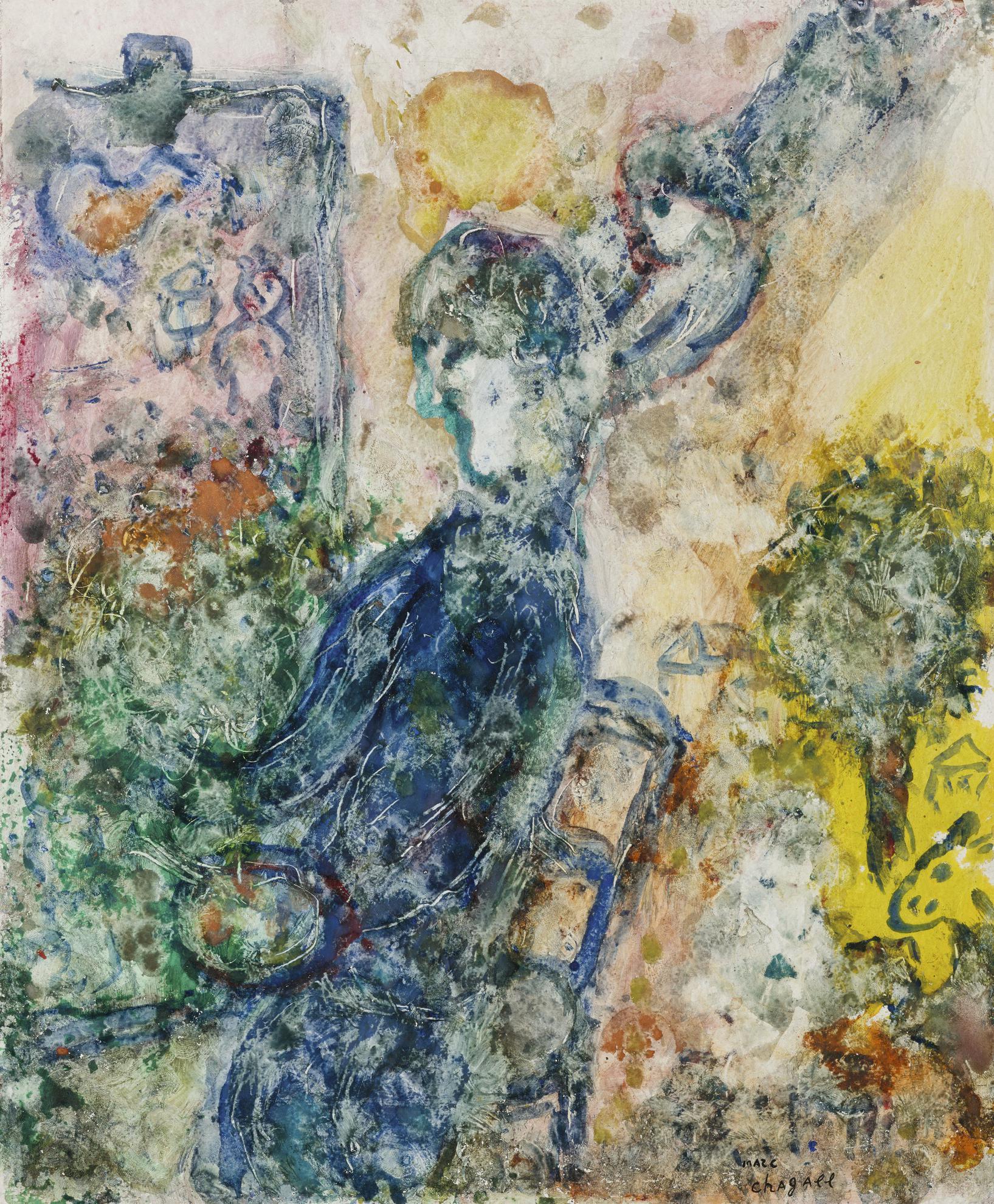 Marc Chagall-Le Peintre A La Palette-1983