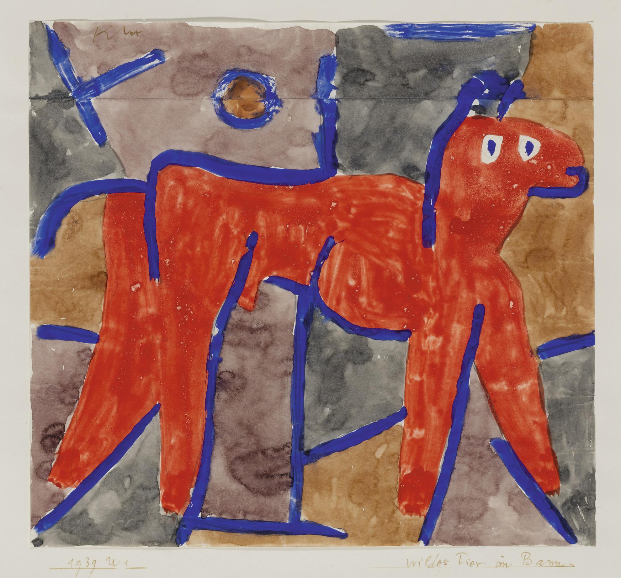 Paul Klee-Wildes Tier Im Bann (Wild Animal At Bay)-1939