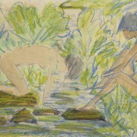 Otto Mueller-Zwei Frauen (Two Girls)