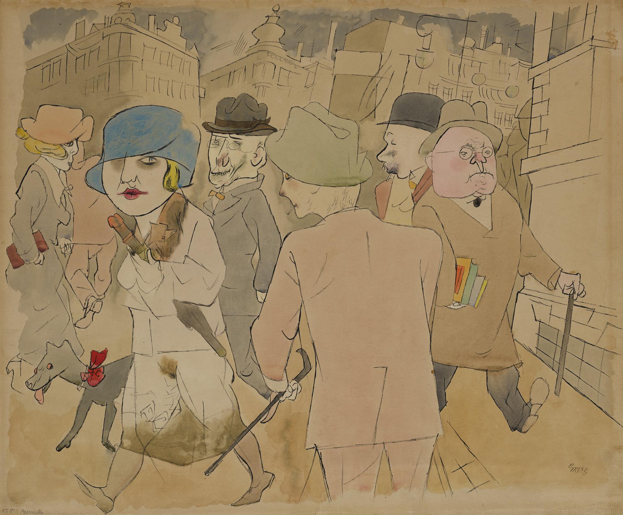 George Grosz-Passanten (Passersby)-1929
