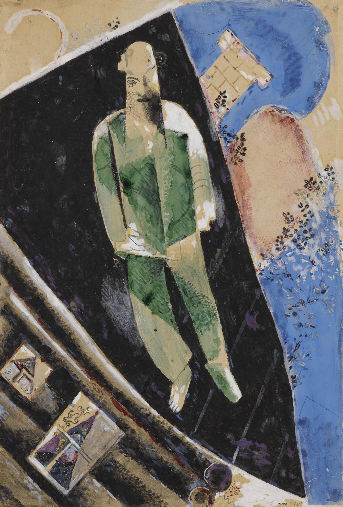 Marc Chagall-Lhomme Sur Le Toit-1923