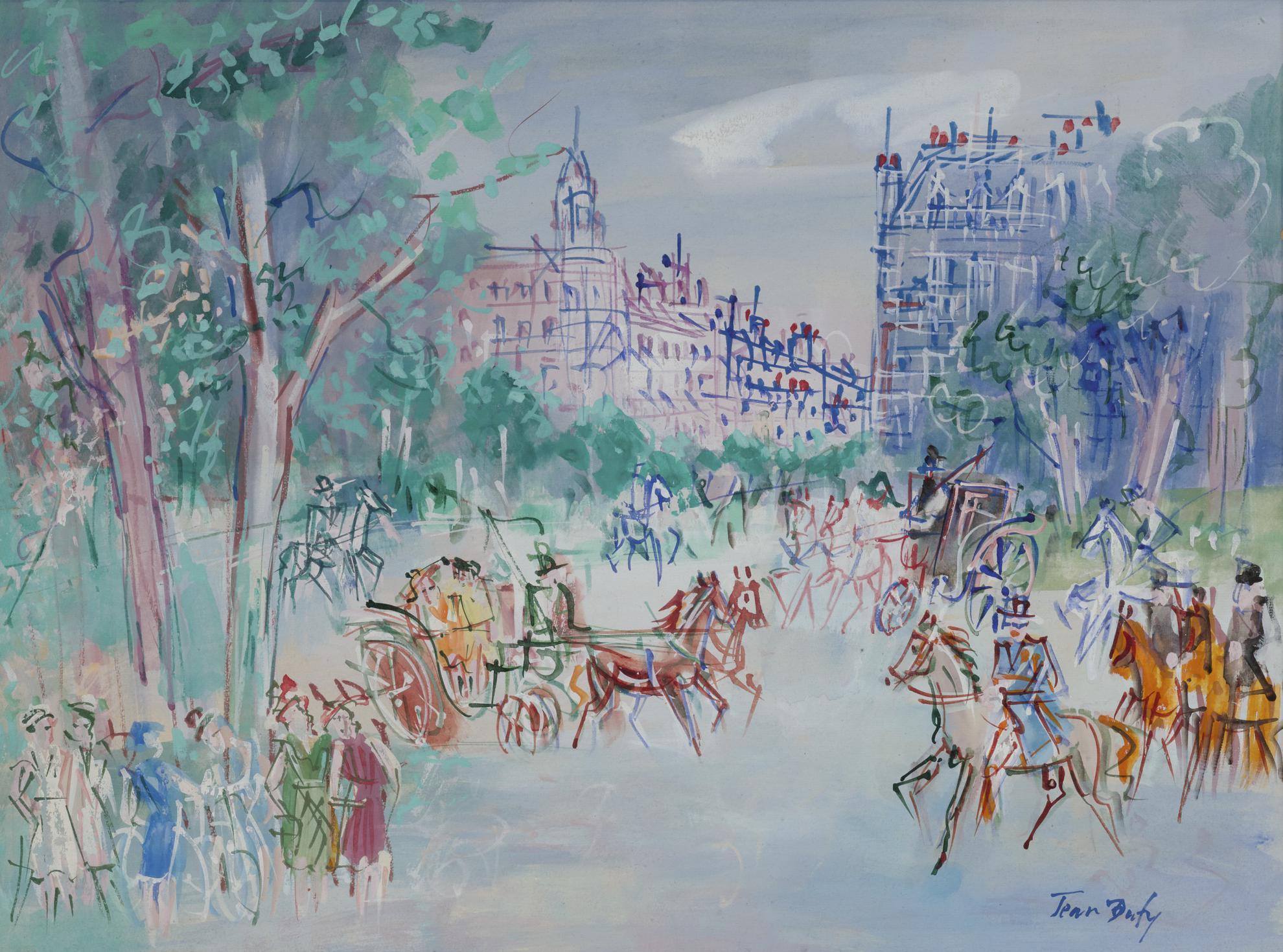 Jean Dufy-Bois De Boulogne-1951