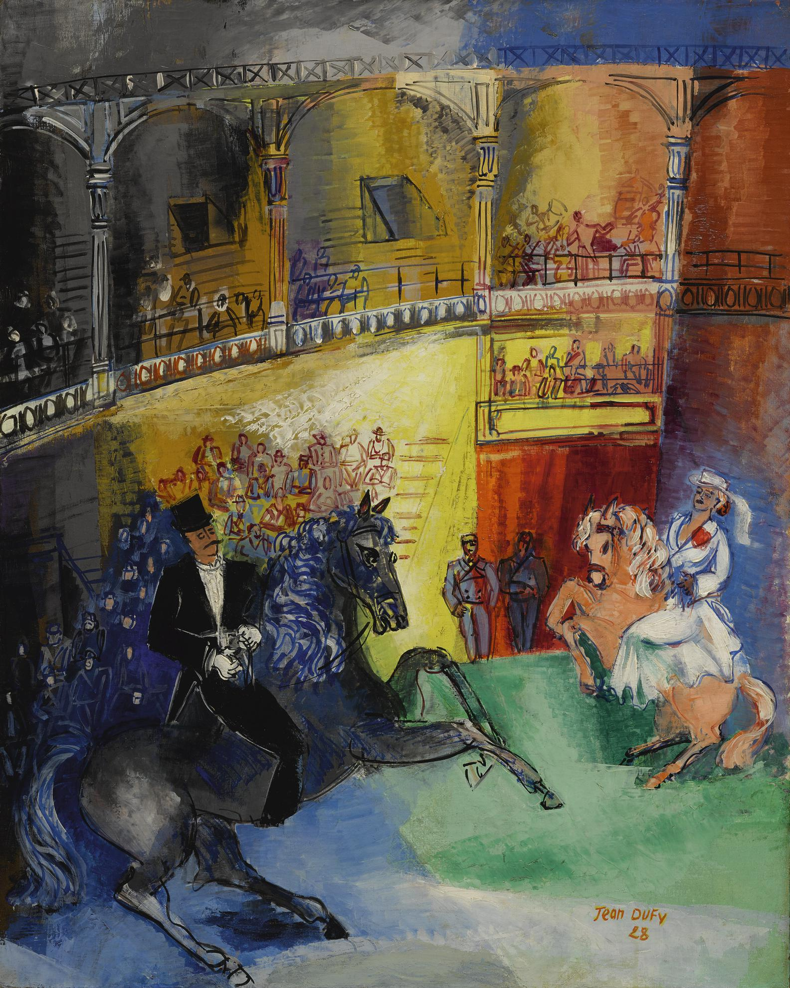 Jean Dufy-Haute Ecole-1928