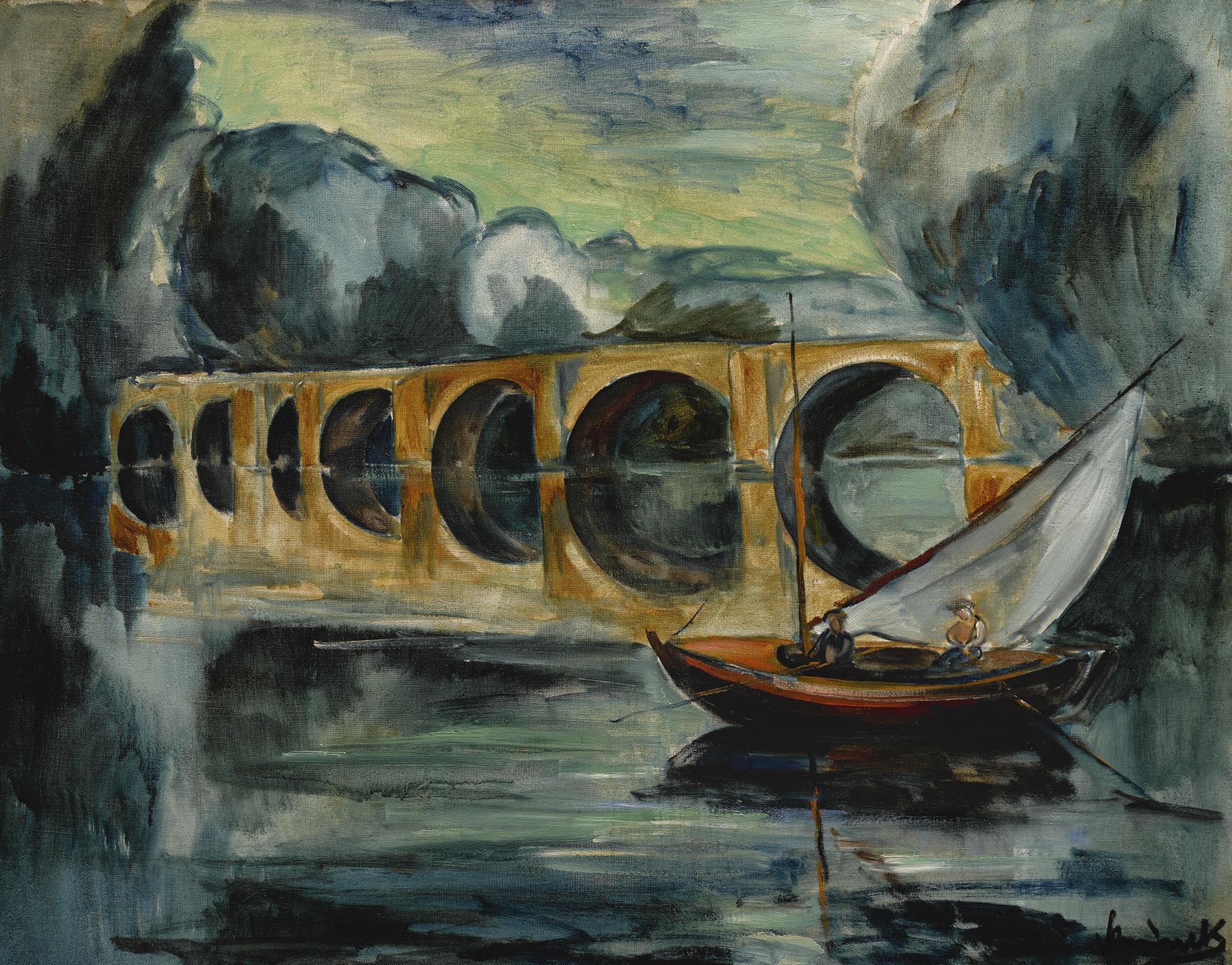 Maurice de Vlaminck-Pecheurs Pres Dun Pont-1912