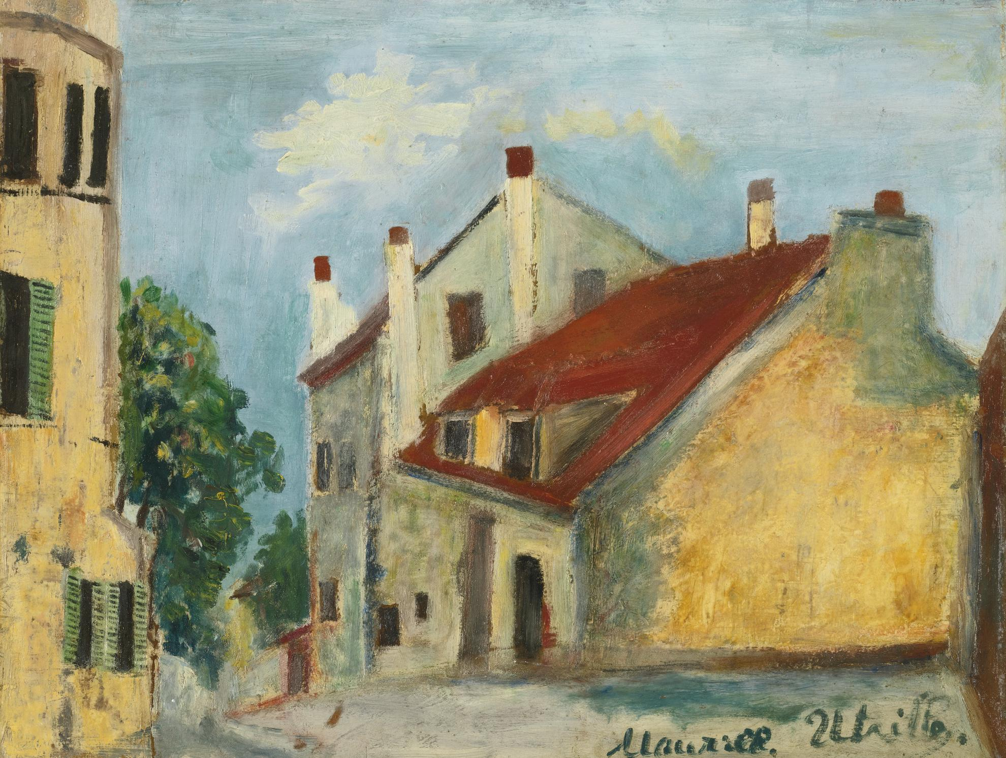 Maurice Utrillo-La Maison De Mimi Pinson-1915