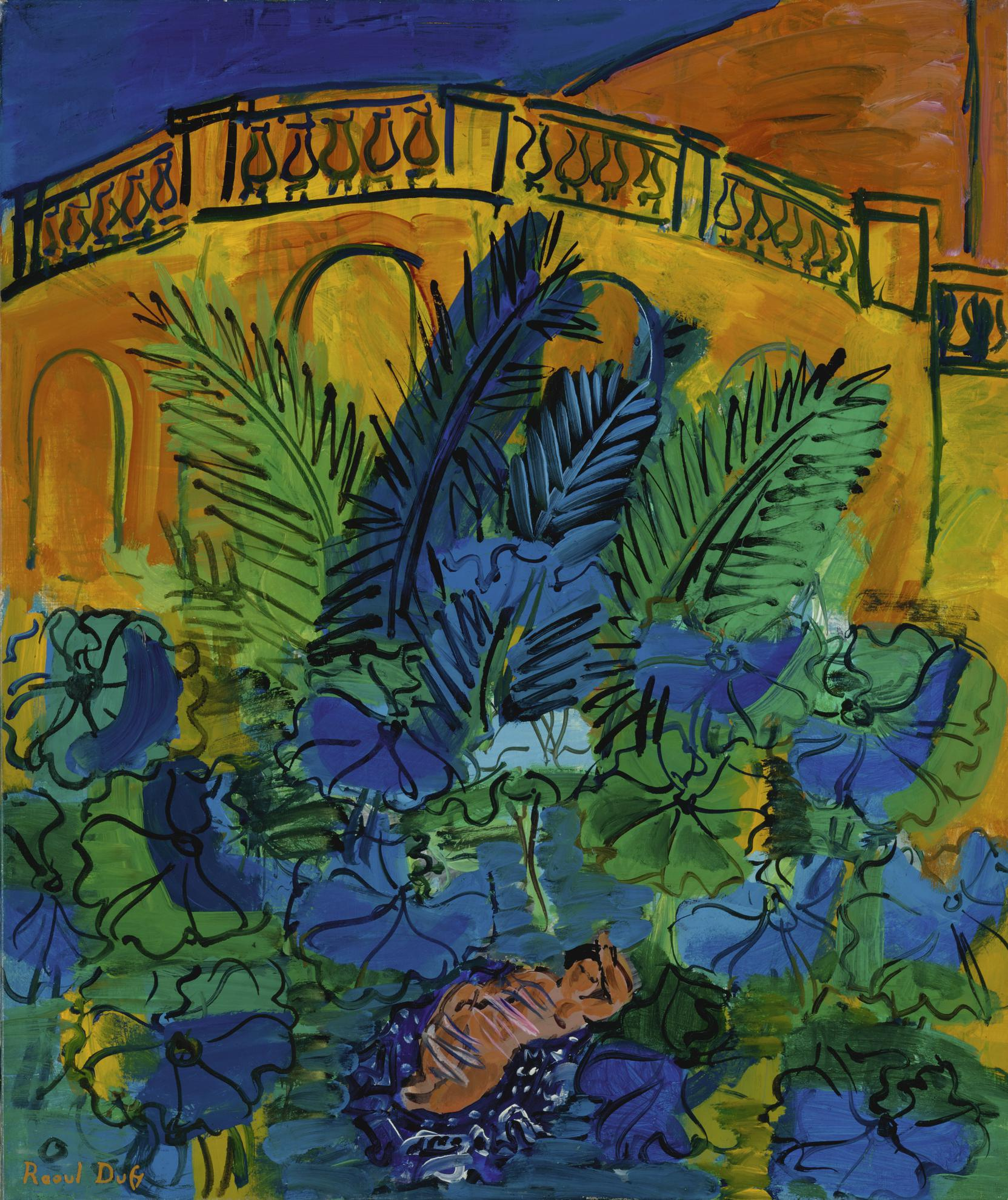 Raoul Dufy-Nu Dans Un Paysage-