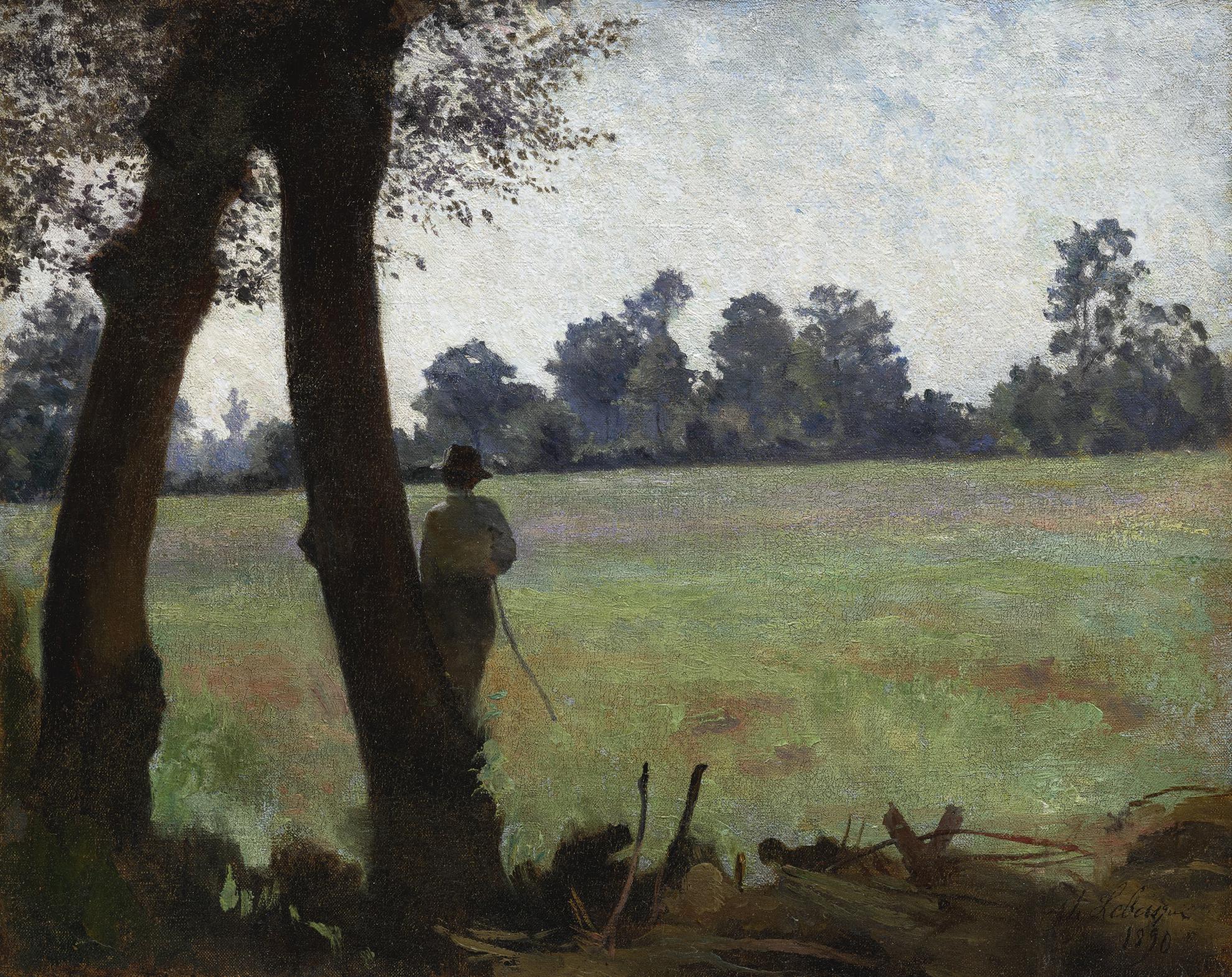 Henri Lebasque-Paysage, Le Pecheur-1890