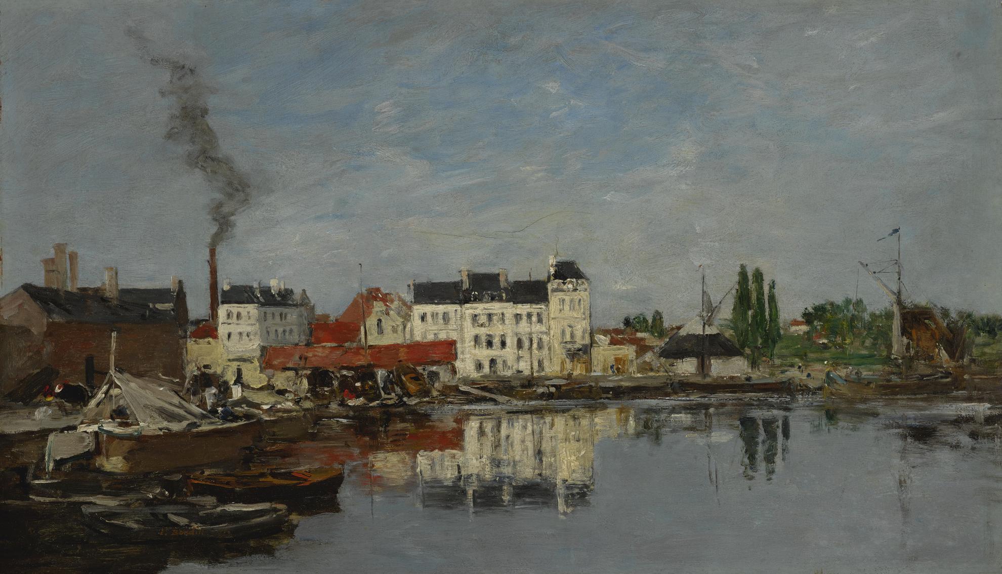 Eugene Louis Boudin-Bruxelles, Le Bassin Du Commerce-1871