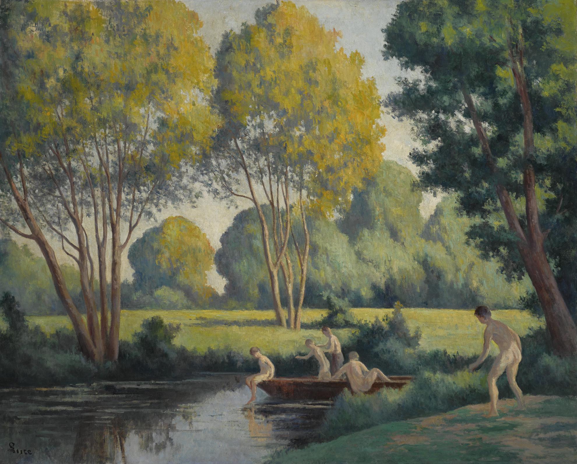 Maximilien Luce-Baigneurs-1925