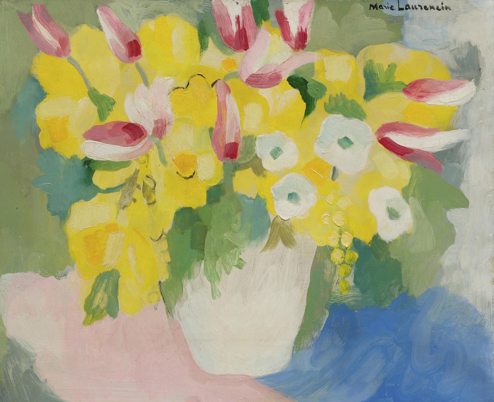 Marie Laurencin-Vase De Fleurs Jaunes-