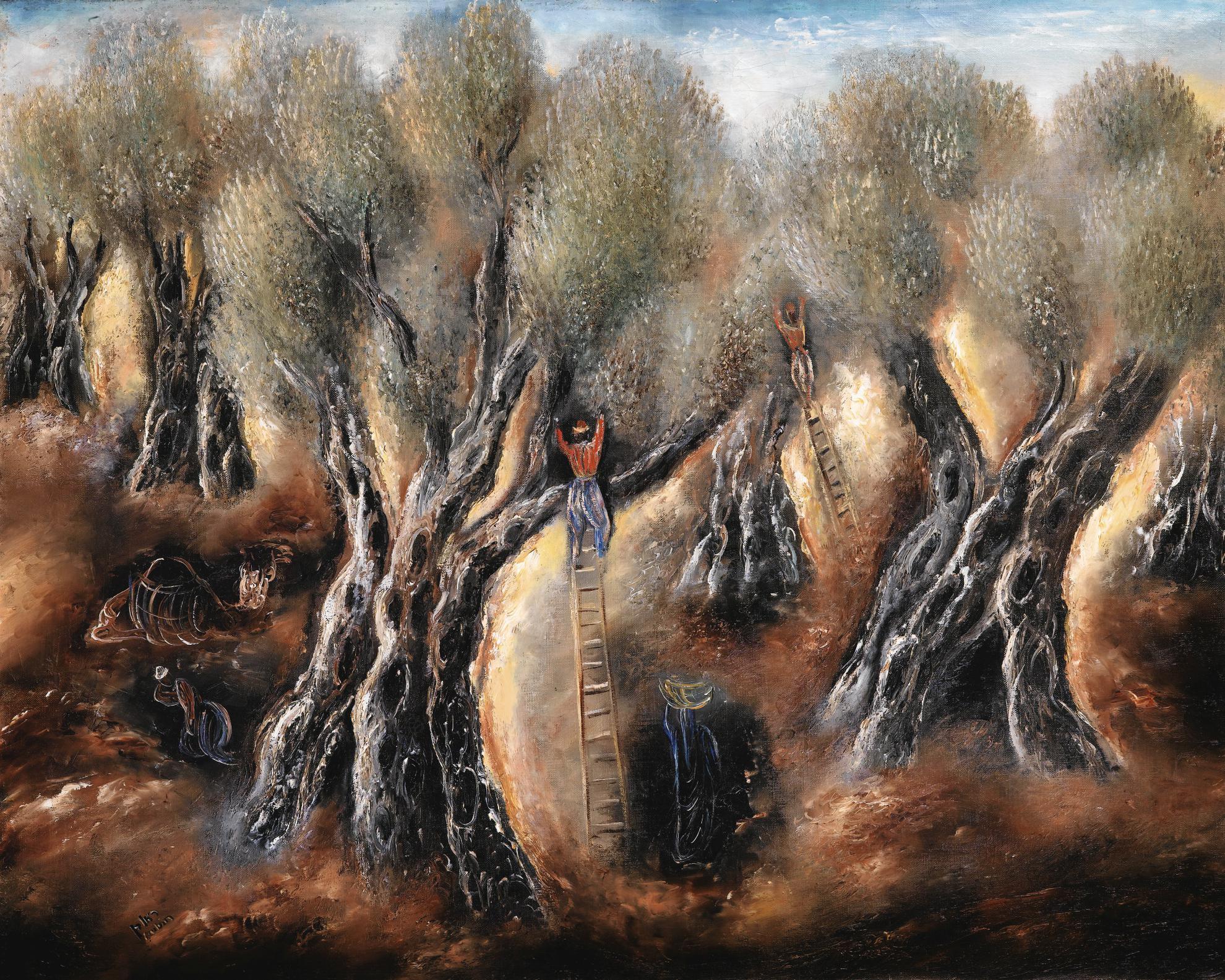 Reuven Rubin-Olive Picking-1930