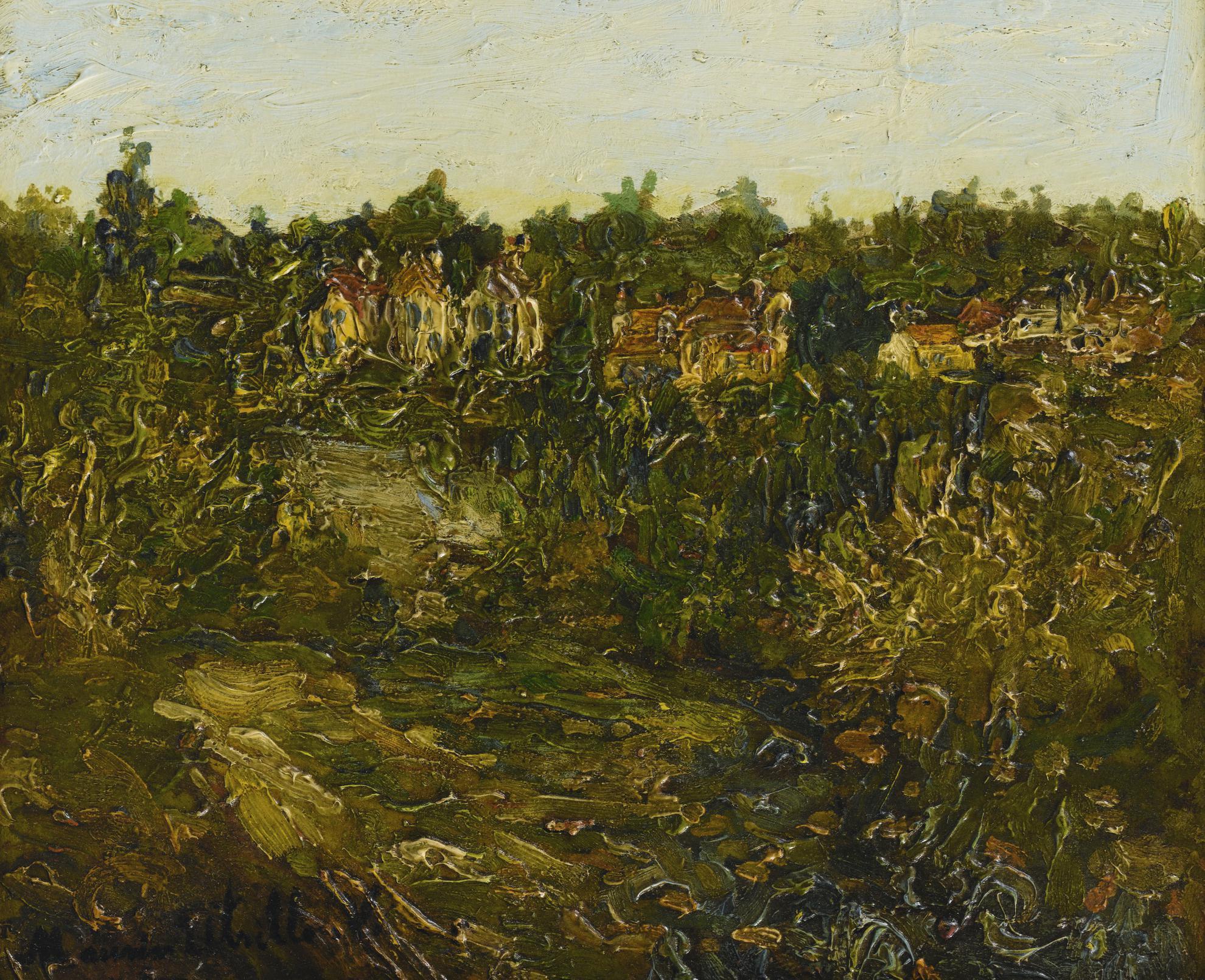 Maurice Utrillo-Paysage De Montmagny (Val Doise)-1906