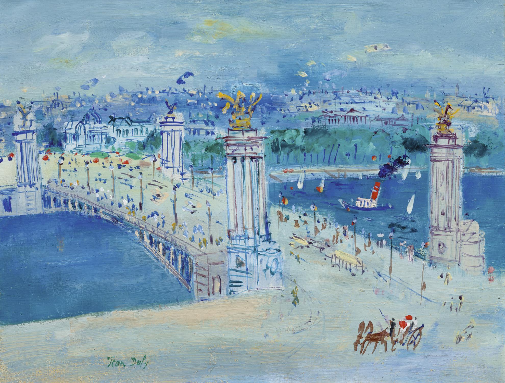 Jean Dufy-Pont Alexandre III, Paris-
