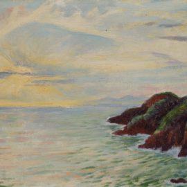 Diego Rivera-Vista De La Bahia De Acapulco Desde Puerto Marques-1956