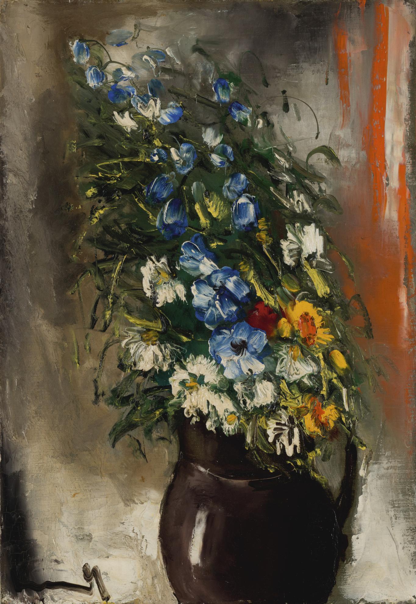 Maurice de Vlaminck-Fleurs Dans Un Pichet-