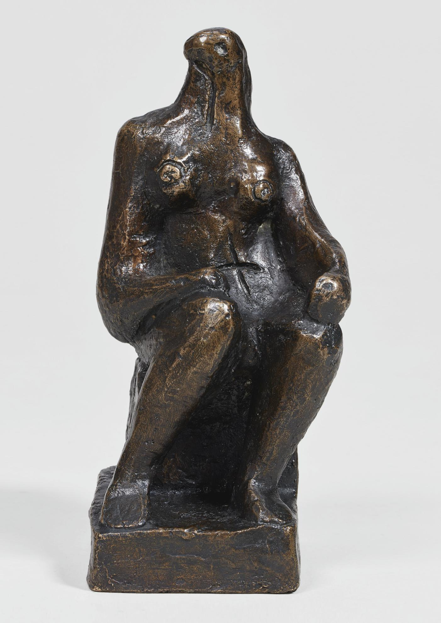 Henry Moore-Small Seated Figure-1957