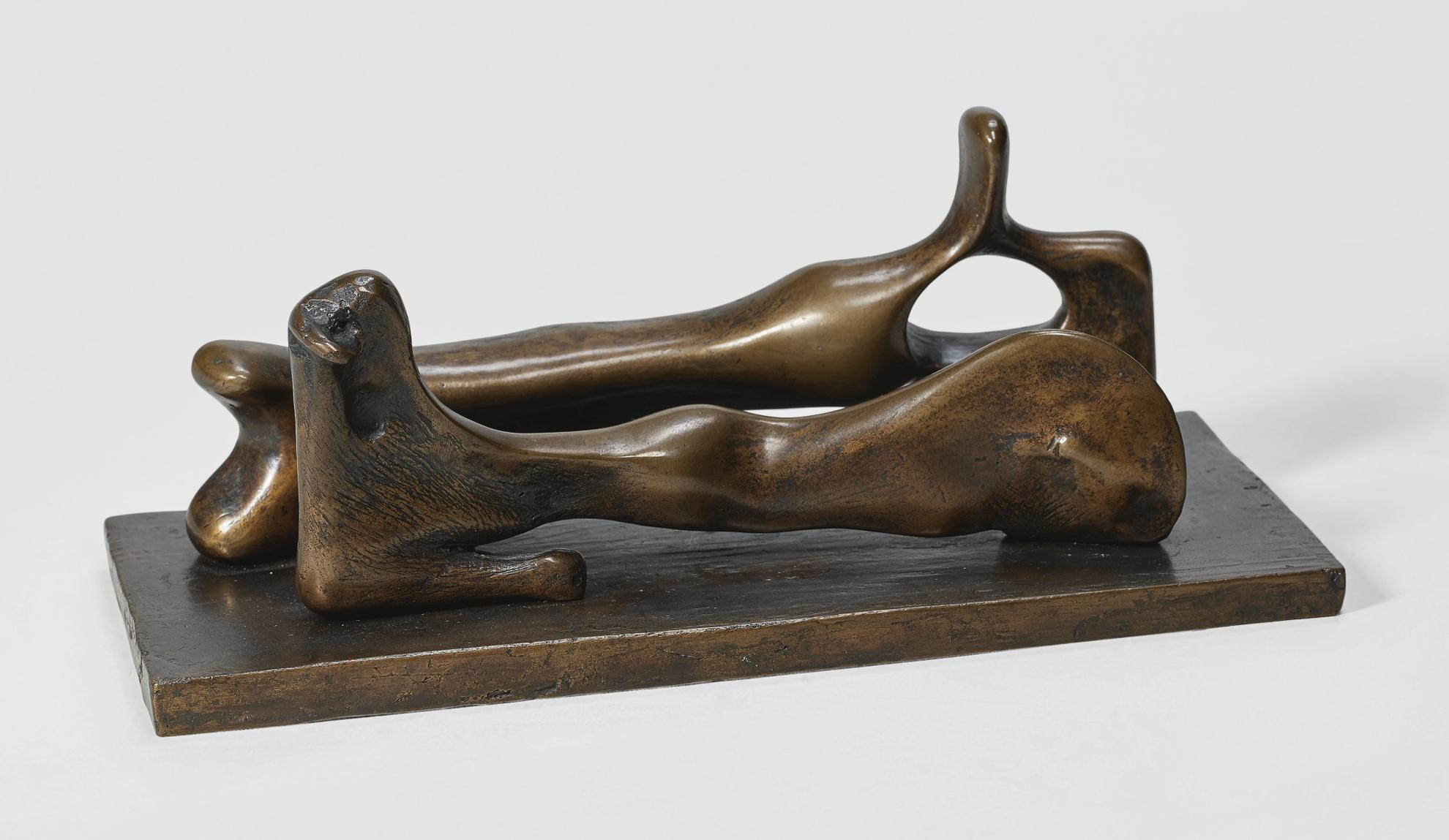 Henry Moore-Reclining Man And Woman-1981