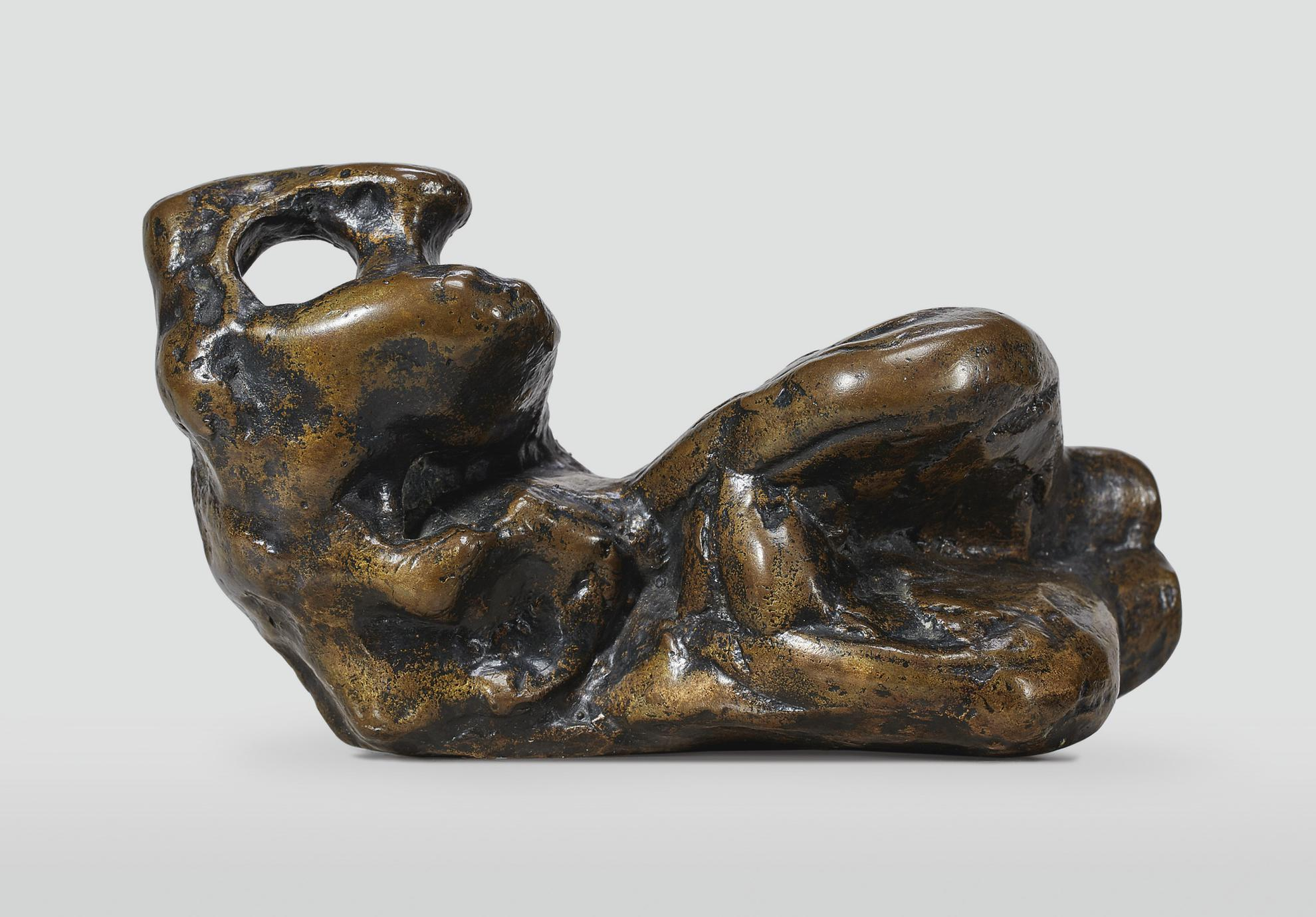 Henry Moore-Reclining Figure: Bunched-1961