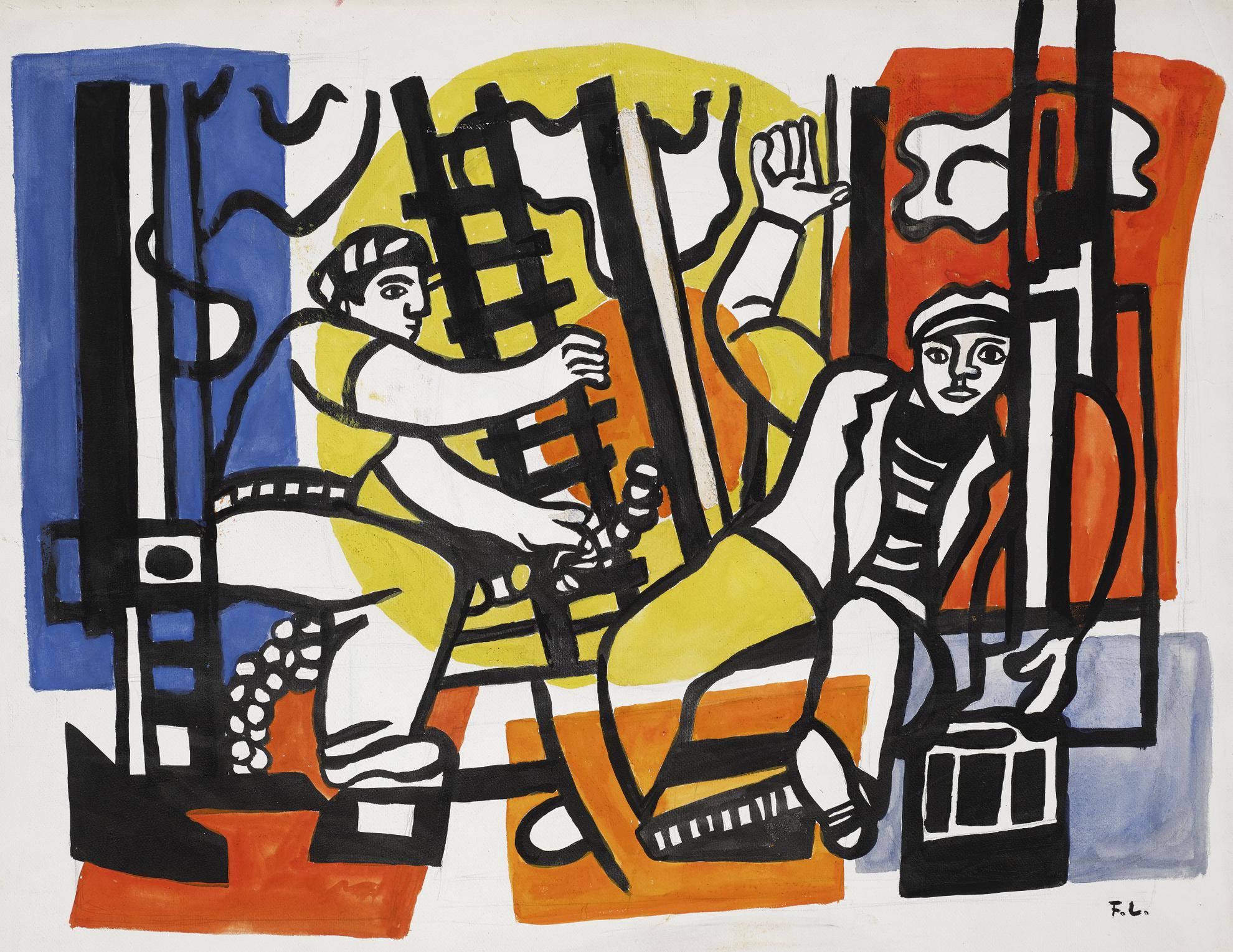 Fernand Leger-Etude Pour Les Constructeurs-1952