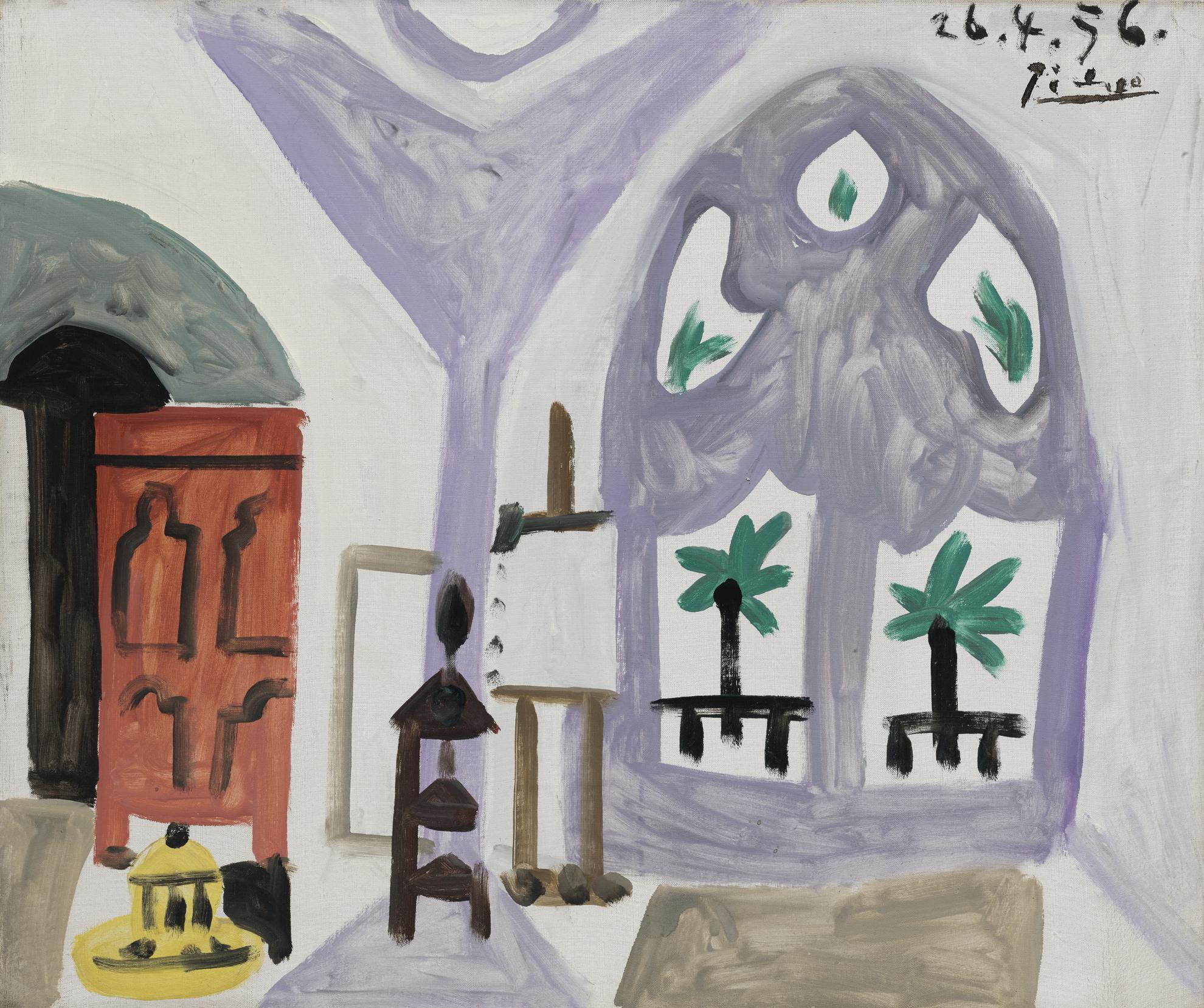 Pablo Picasso-Latelier-1956