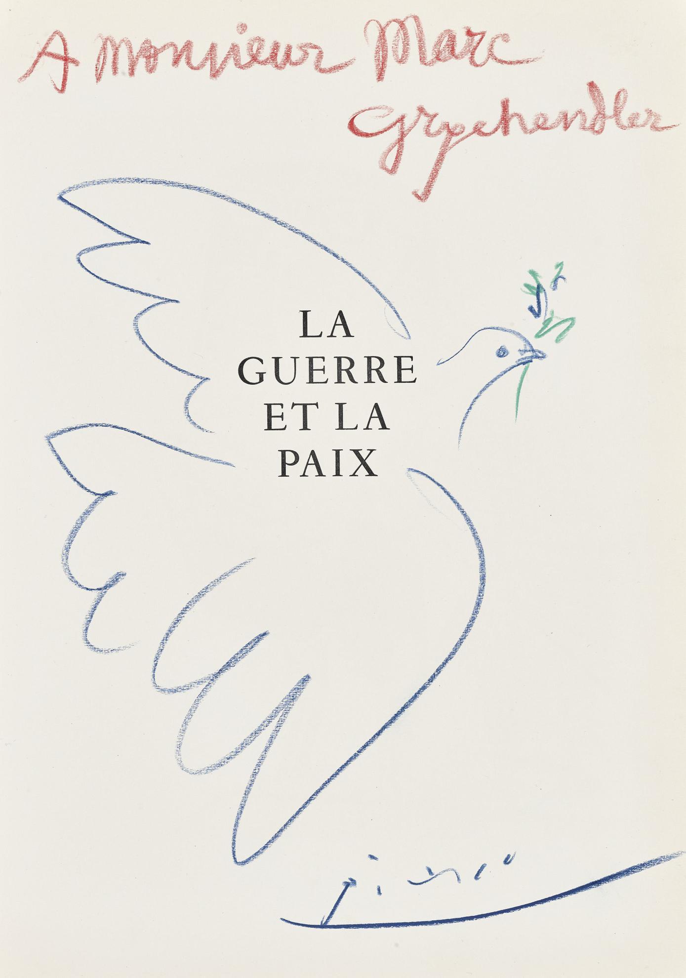 Pablo Picasso-La Colombe De La Paix-1954