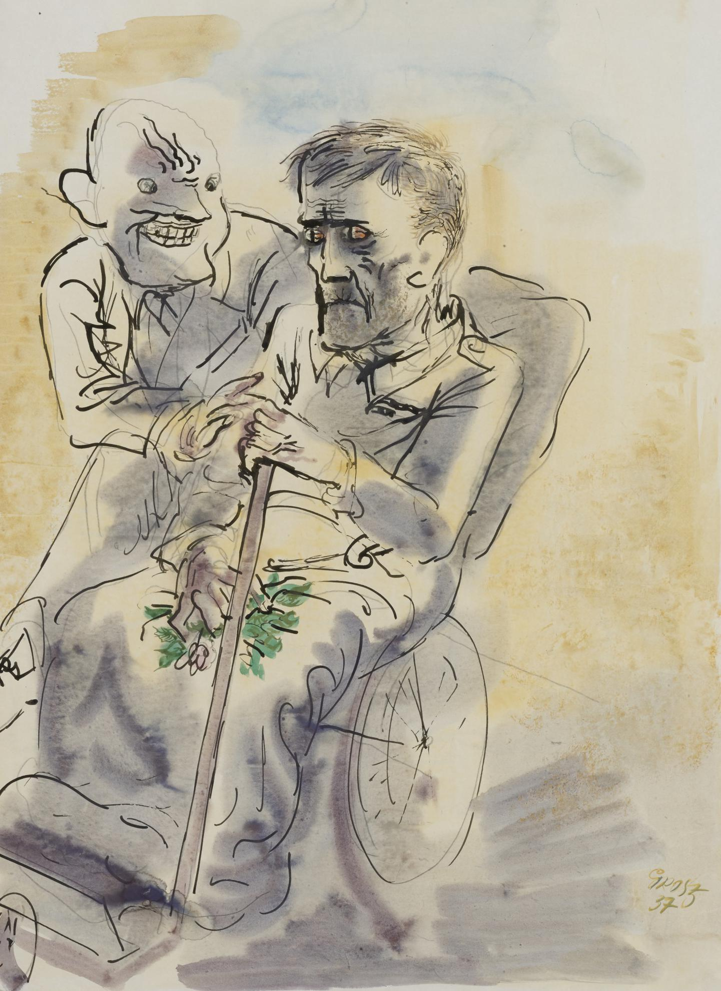 George Grosz-Patient (A Double-Sided Work)-1937