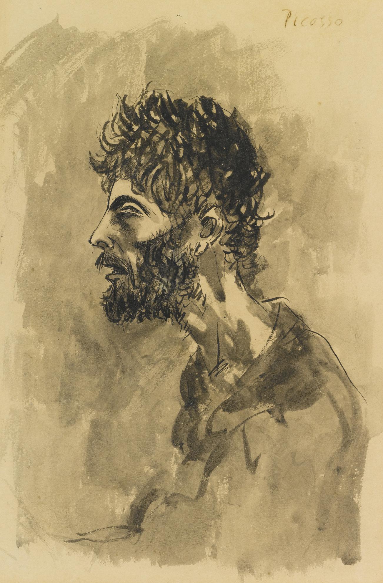 Pablo Picasso-Tete De Mendiant-1903