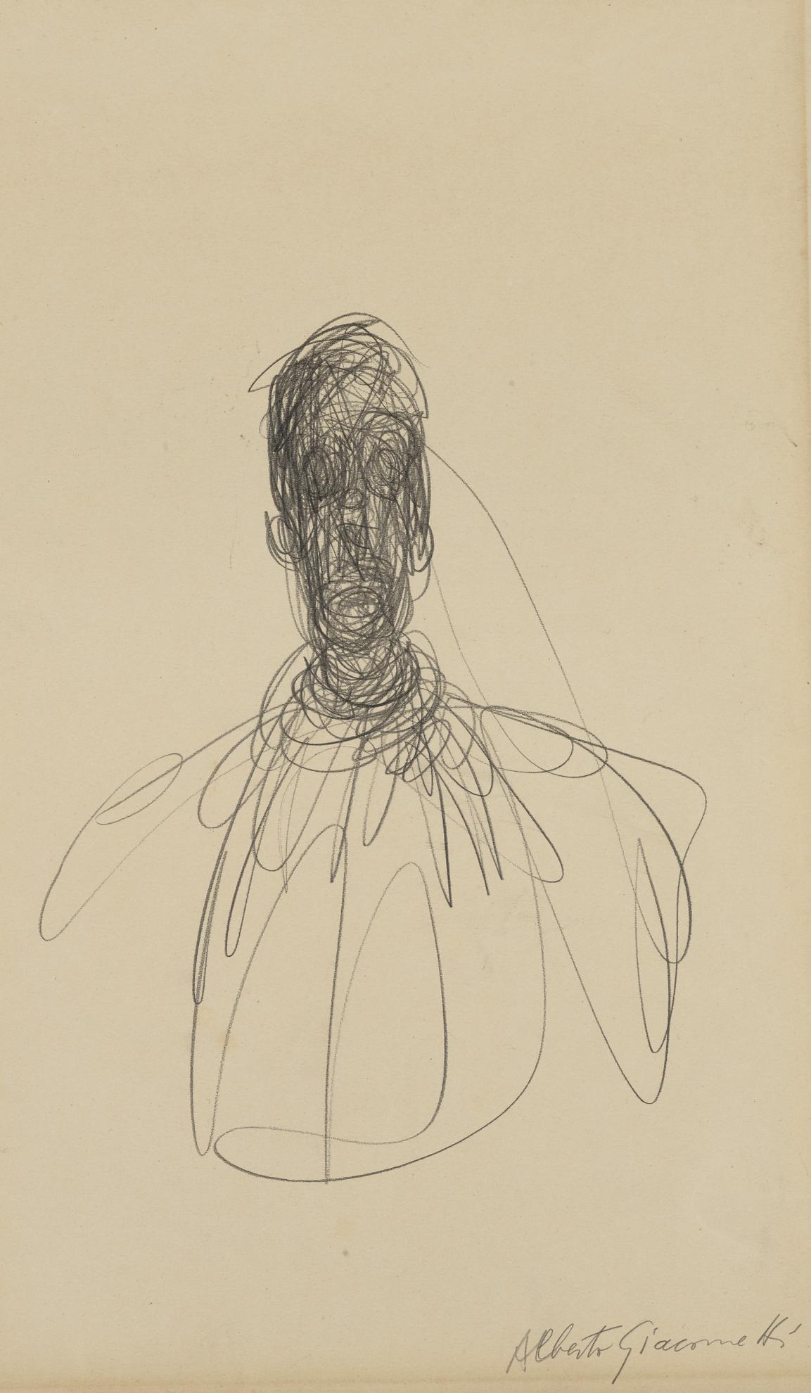 Alberto Giacometti-Tete Dhomme-1951