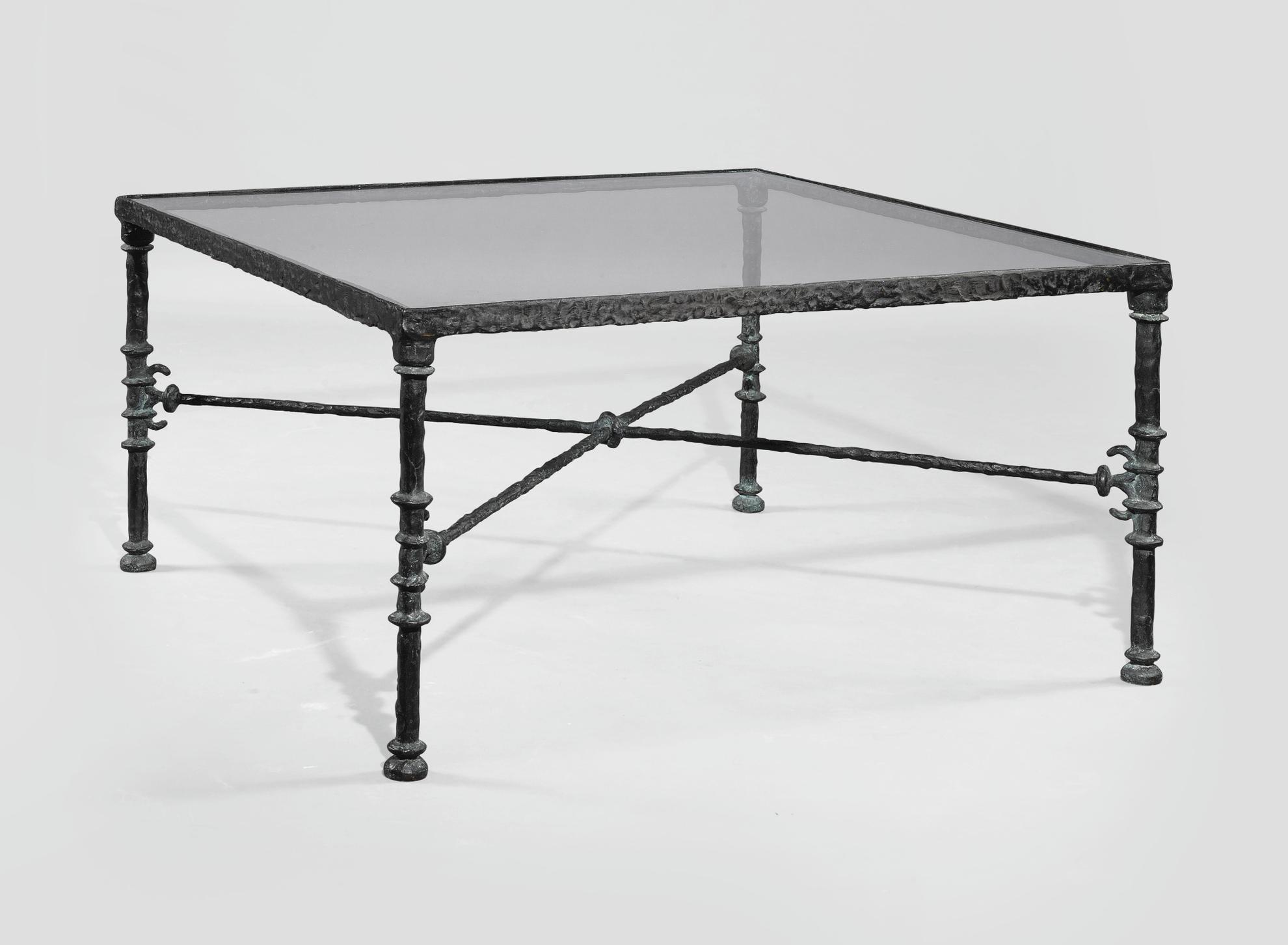 Diego Giacometti-Table Grecque, Modele Carre-1975