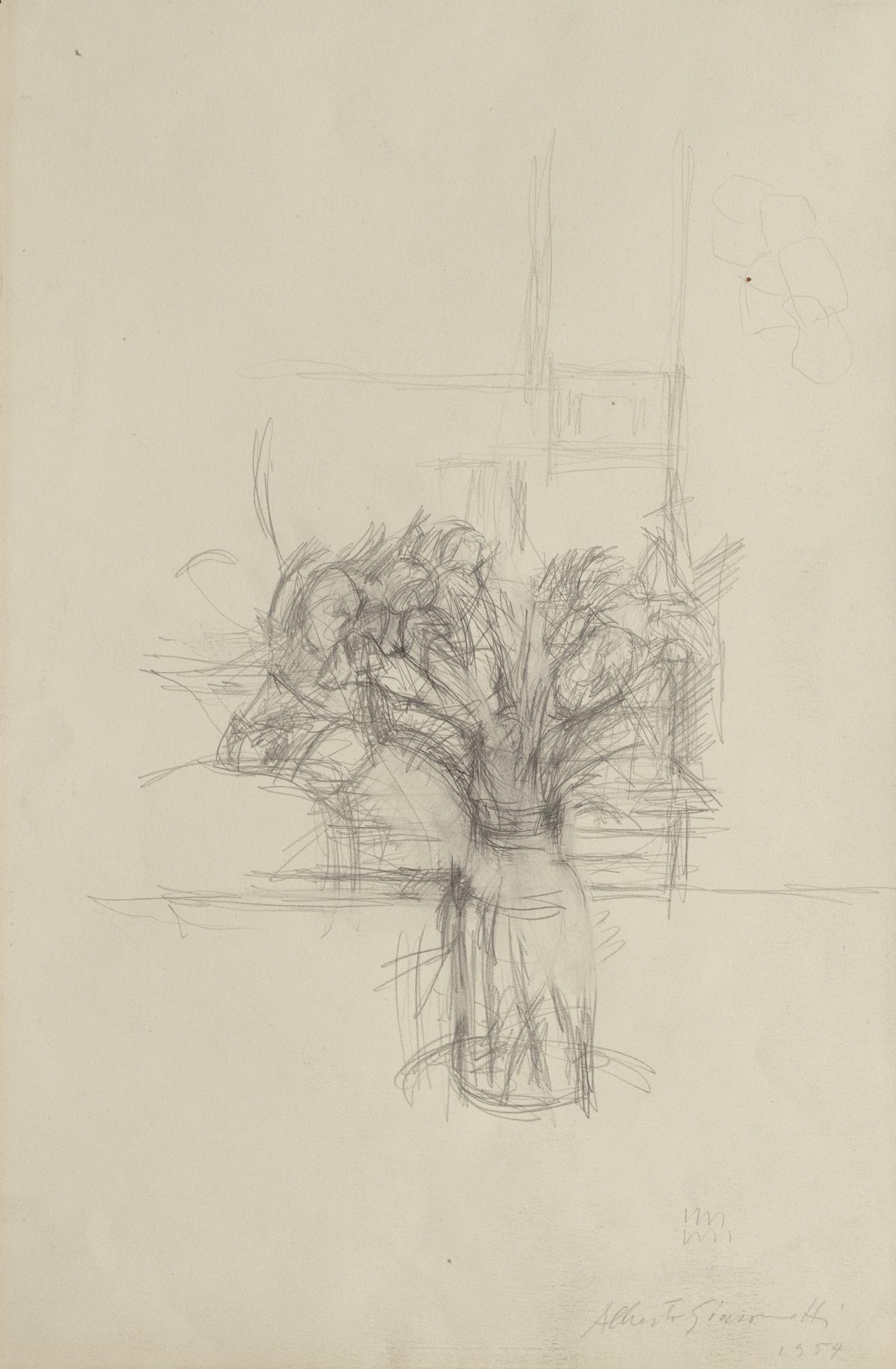 Alberto Giacometti-Nature Morte Aux Fleurs-1954
