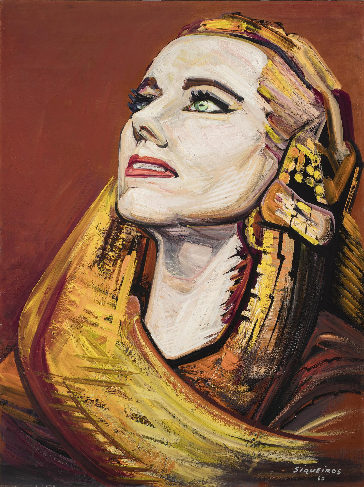 David Alfaro Siqueiros-La Mujer De La Nieve (Portrait Of Teresa Alfaro Siqueiros De Prieto As Iztaccihuatl)-1960