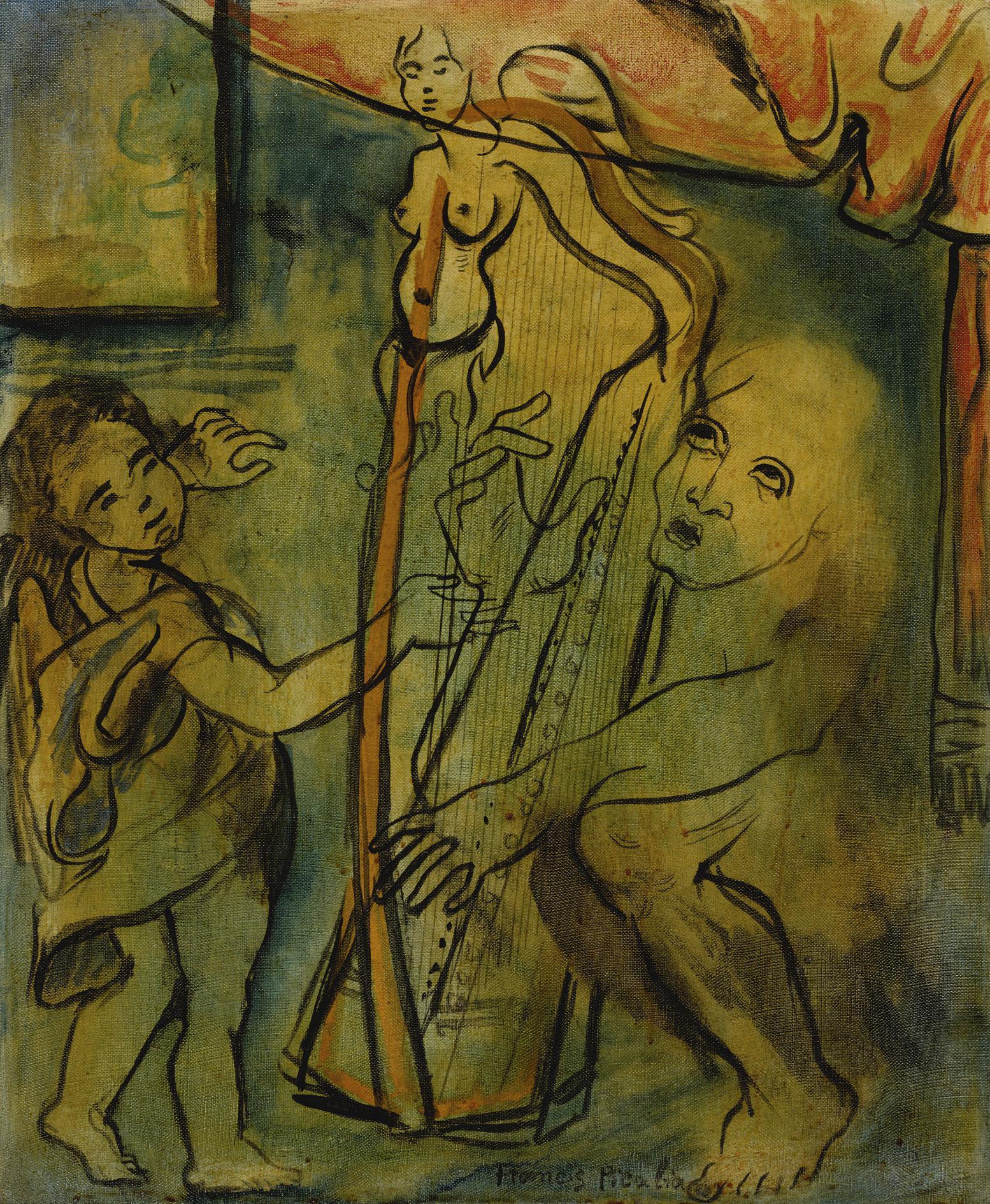 Francis Picabia-Le Harpiste-1936