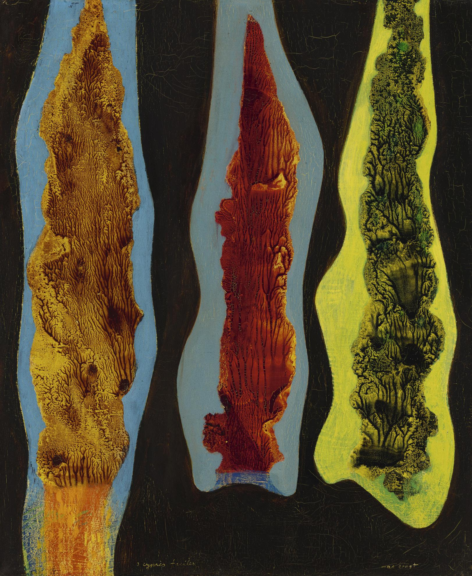 Max Ernst-Trois Cypres Faciles-1949