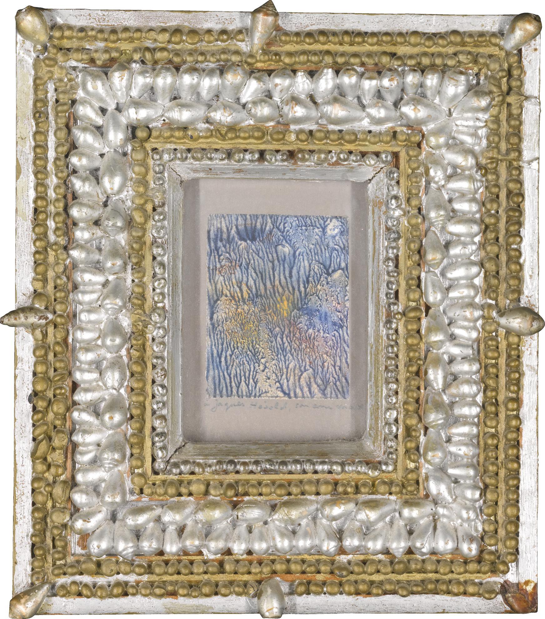 Max Ernst-Ohne Titel (Microbe-Decalcomanie)-1956