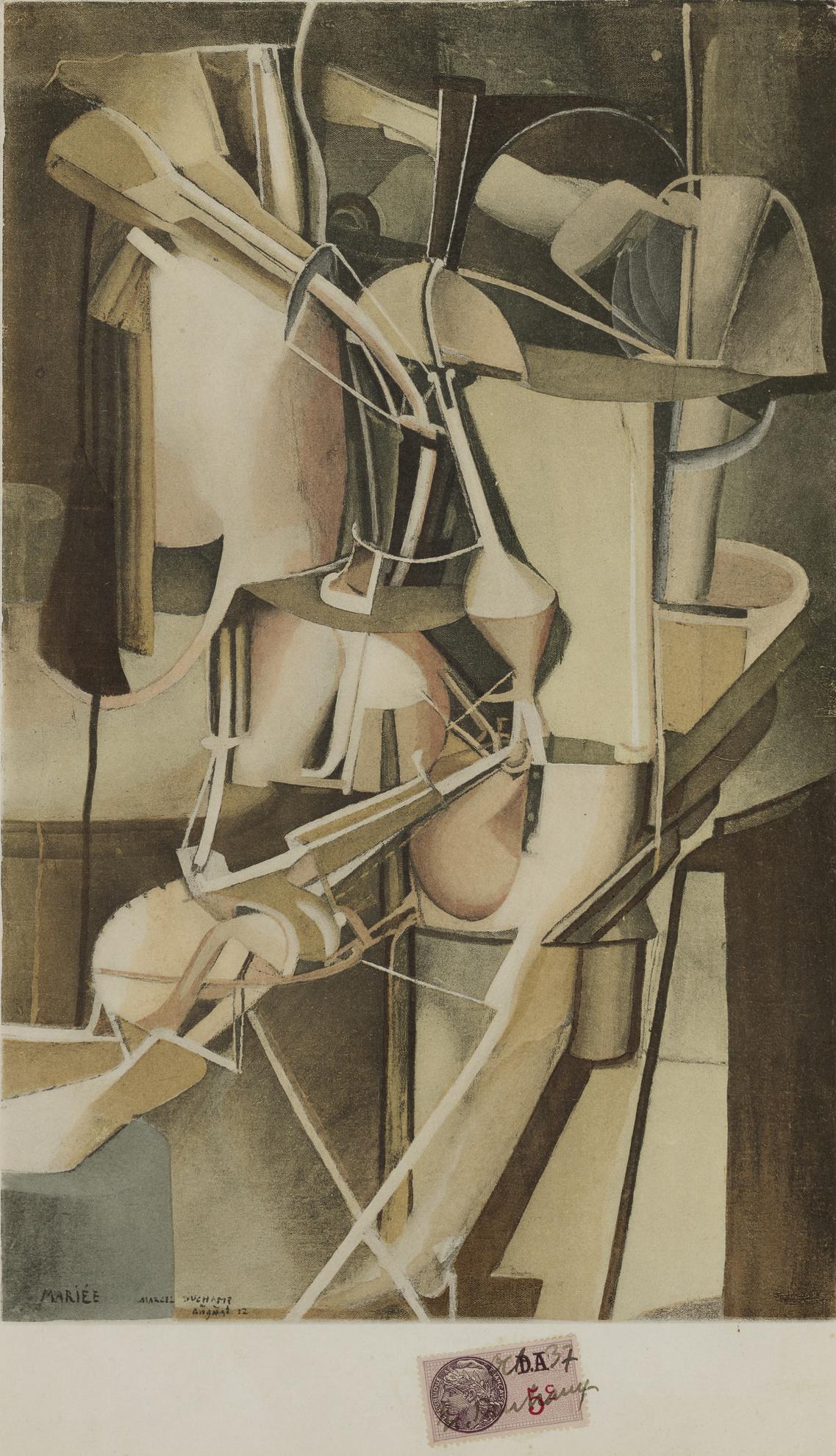 Marcel Duchamp-Mariee-1937