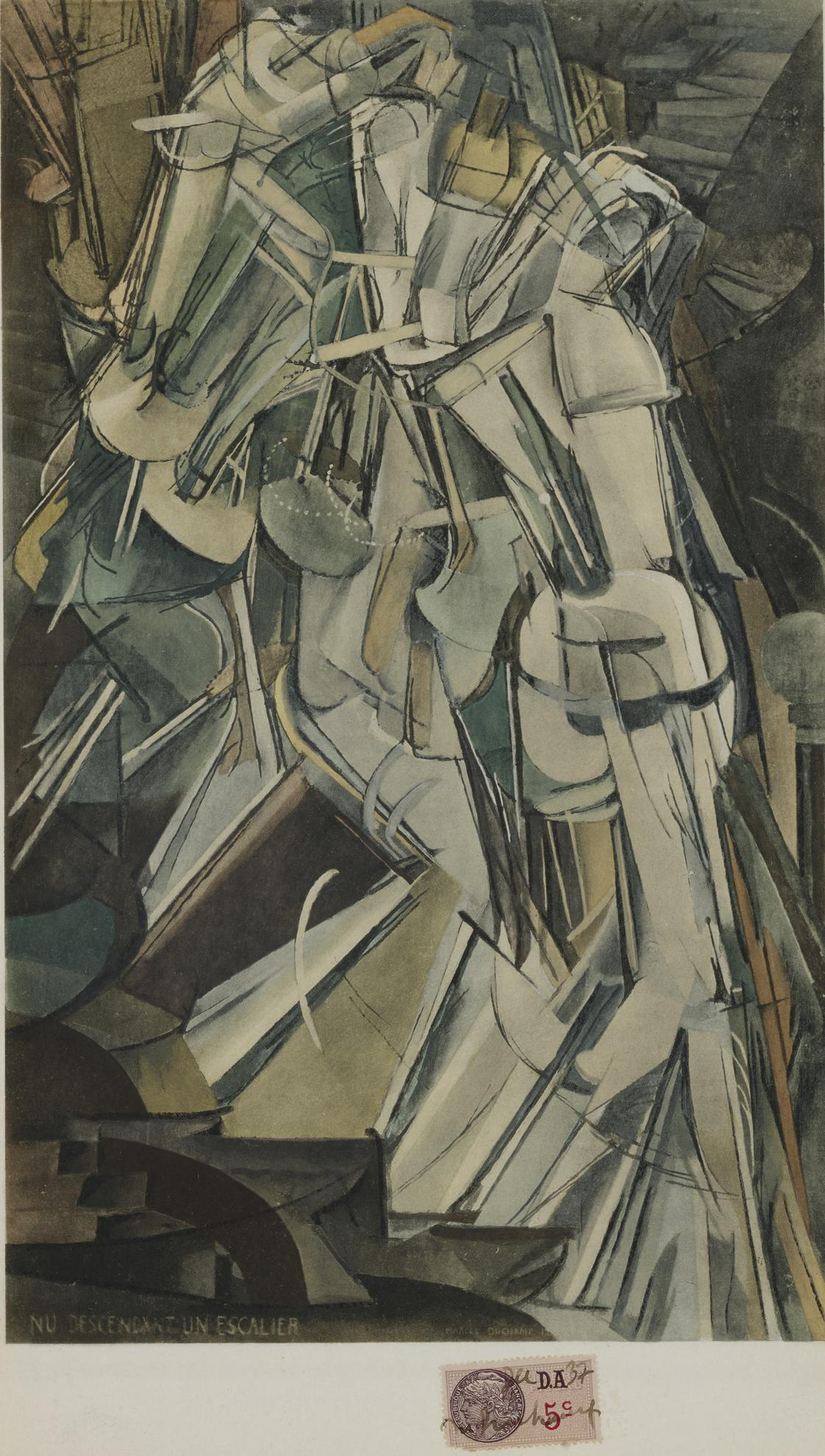 Marcel Duchamp-Nu Descendant Un Escalier-1937