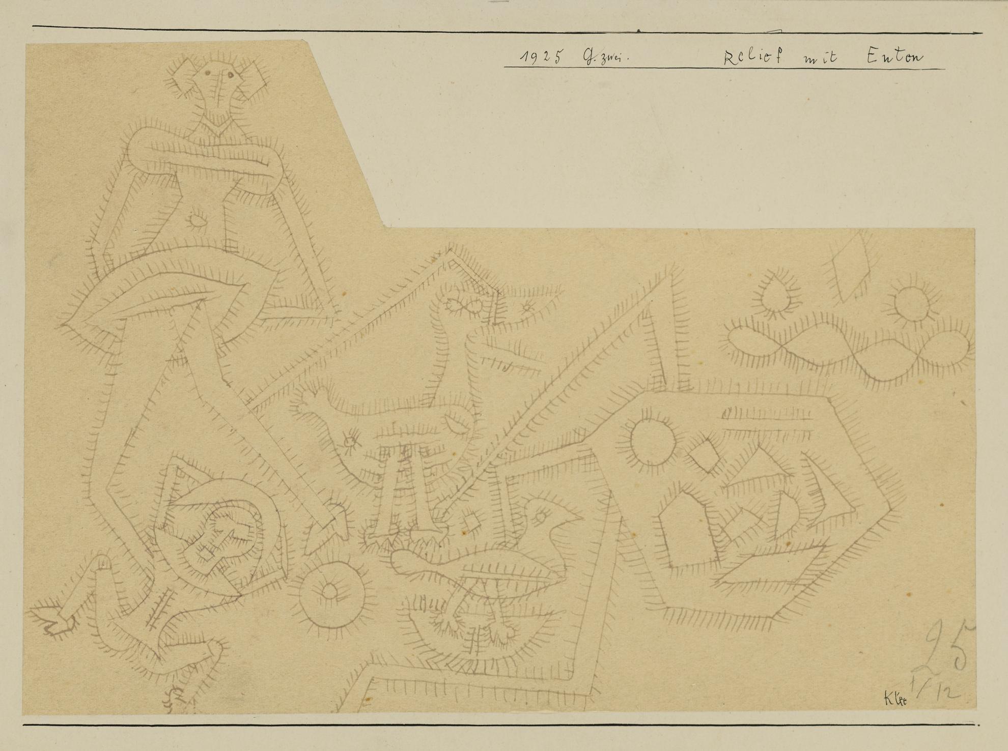 Paul Klee-Relief Mit Enten (Relief With Ducks)-1925