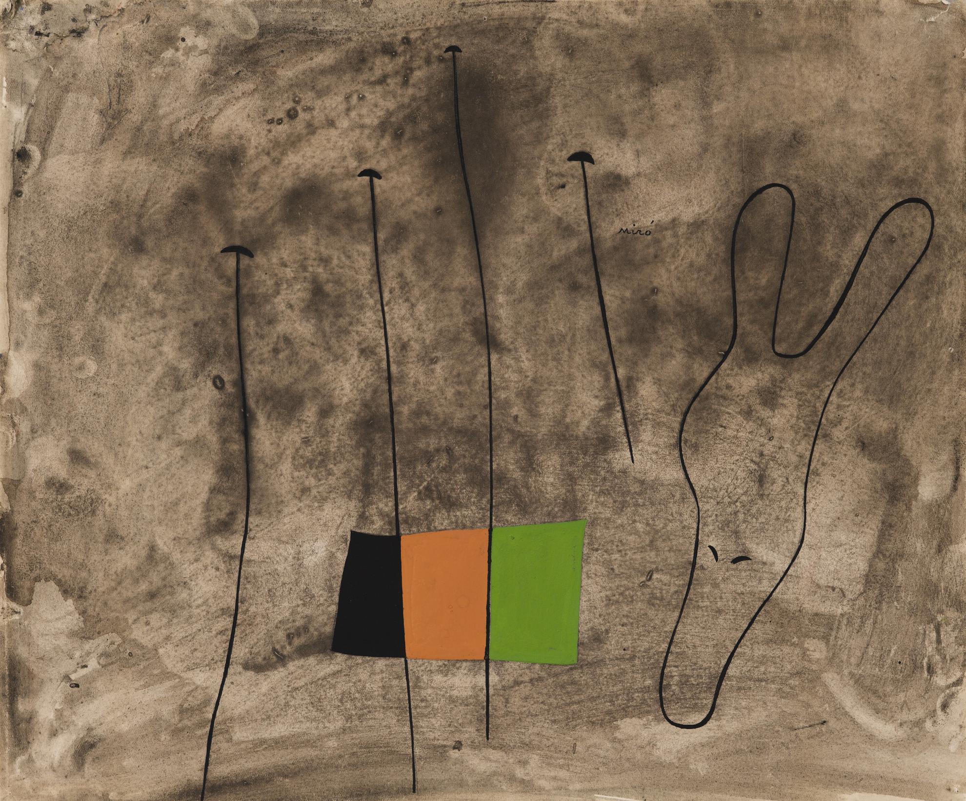 Joan Miro-Paysage Et Tete Danimal-1935