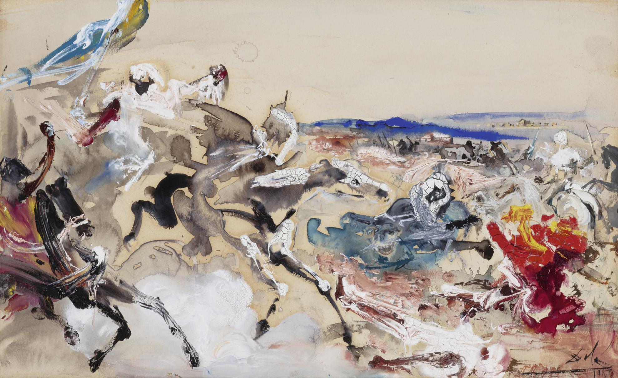 Salvador Dali-Arabes (Etude Pour La Bataille De Tetouan)-1960