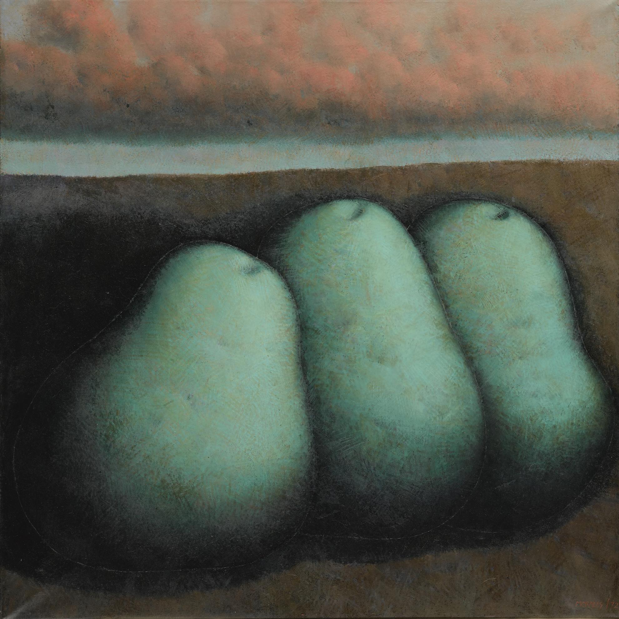Armando Morales-Three Pears In A Landscape-1972