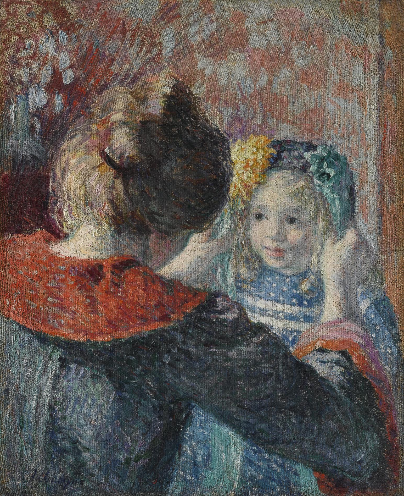 Henri Lebasque-Madame Lebasque Et Sa Fille Marthe-1899