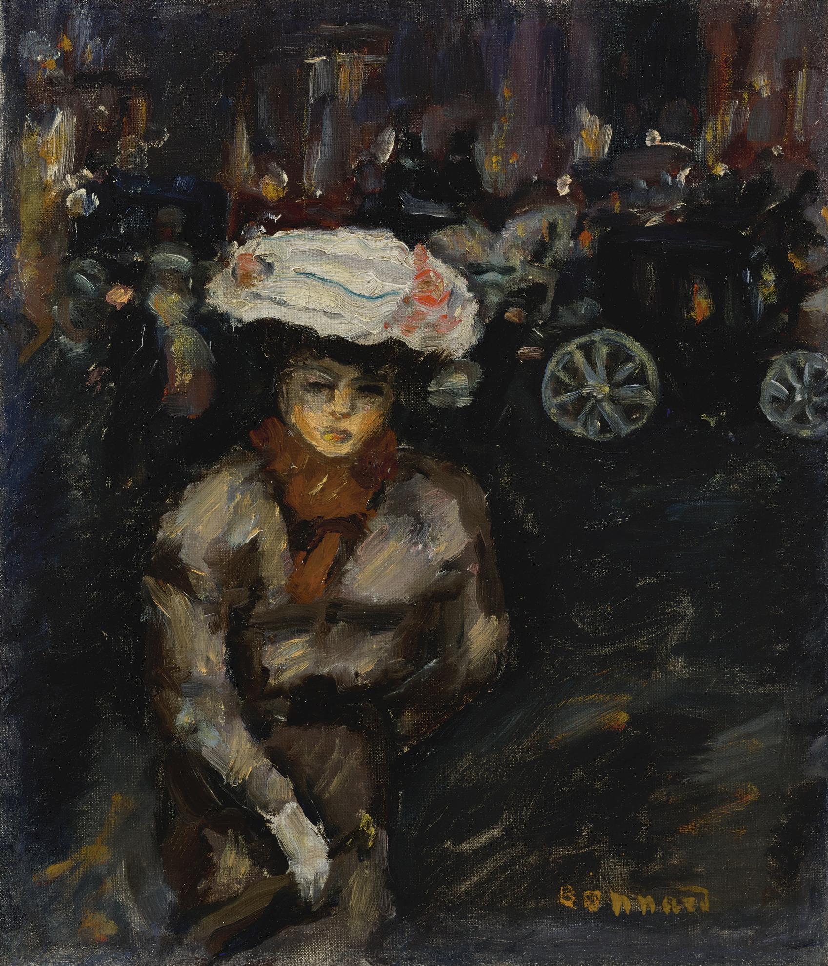 Pierre Bonnard-Jeune Fille Dans La Rue-1898