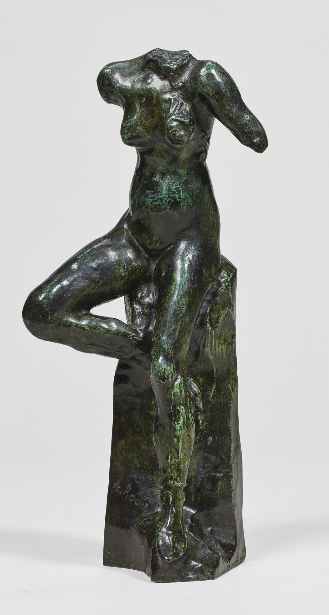 Auguste Rodin-Nu Feminin Assis, Petit Modele Dit Aussi Petite Etude De Mouvement-1962