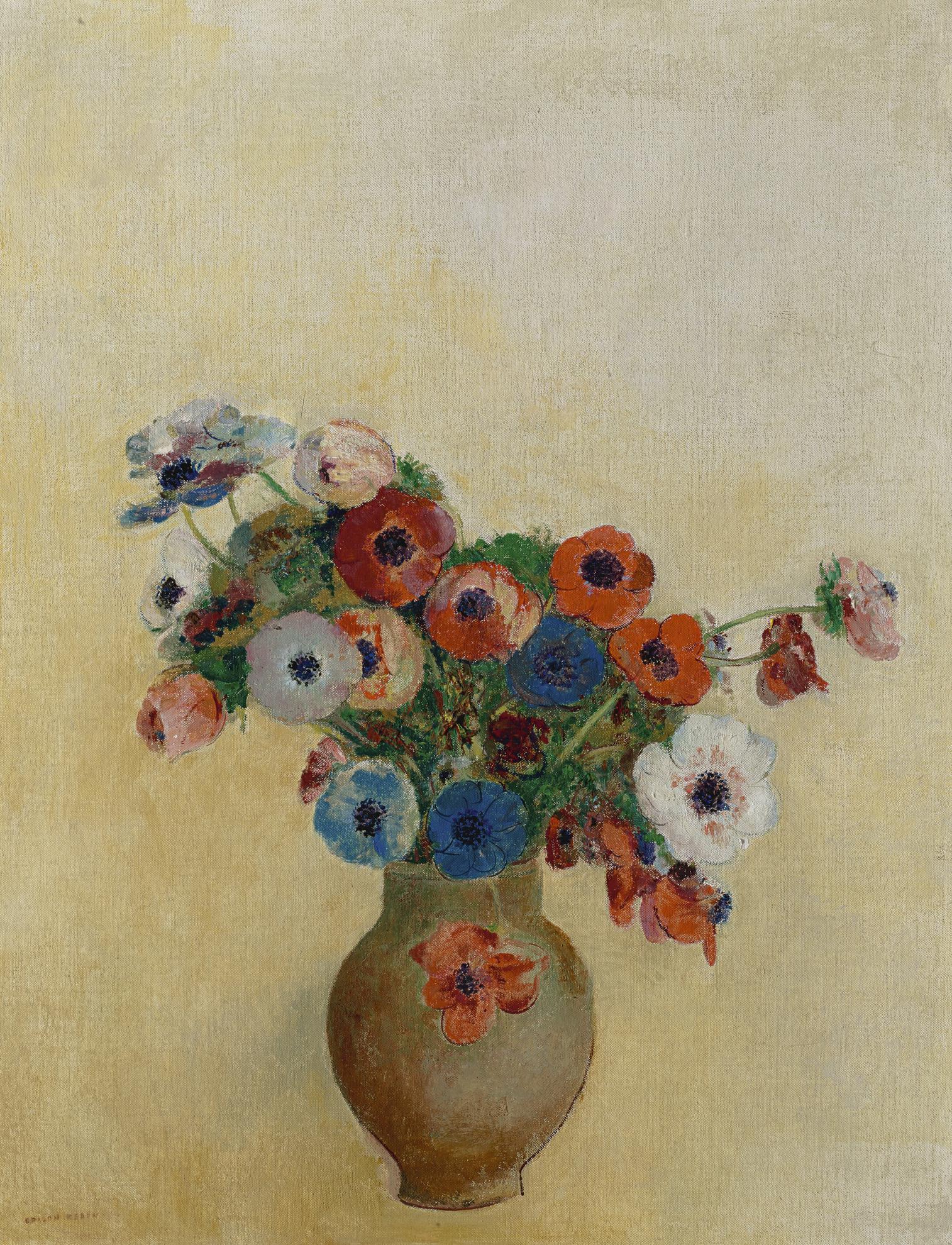 Odilon Redon-Anemones-1910
