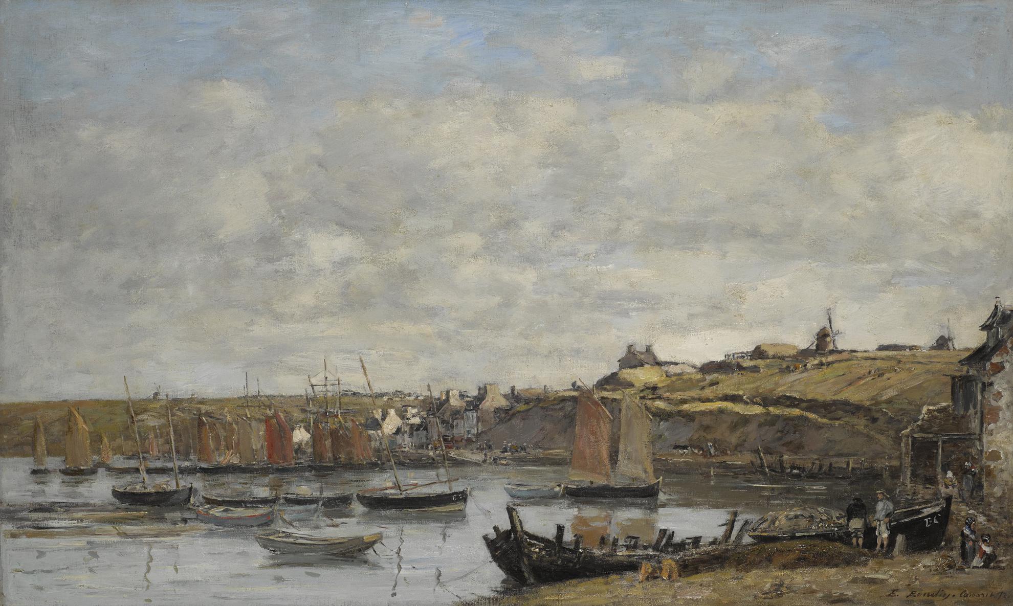 Eugene Louis Boudin-Camaret, Le Port-1872