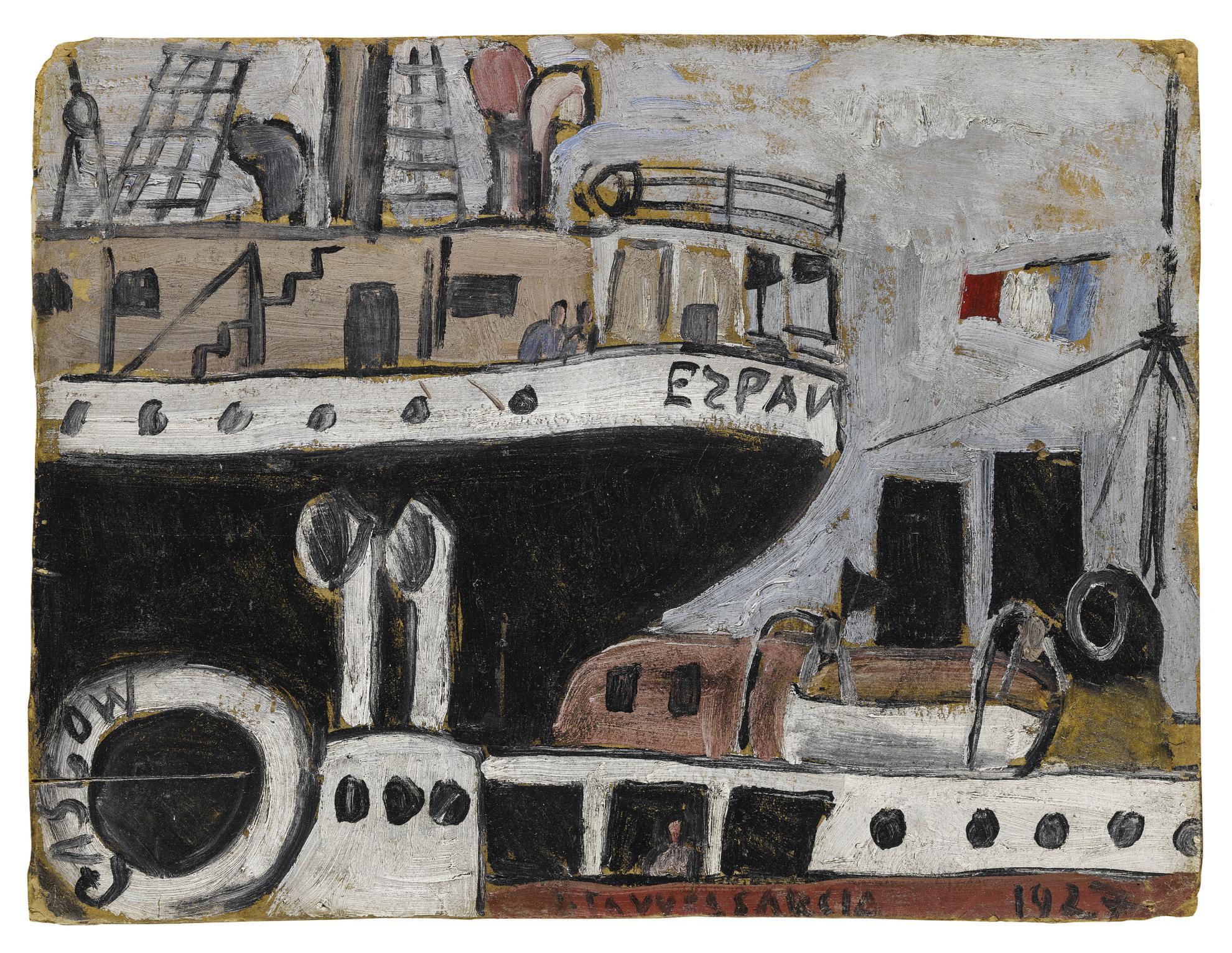 Joaquin Torres-Garcia-Puerto Con Barcos-1927